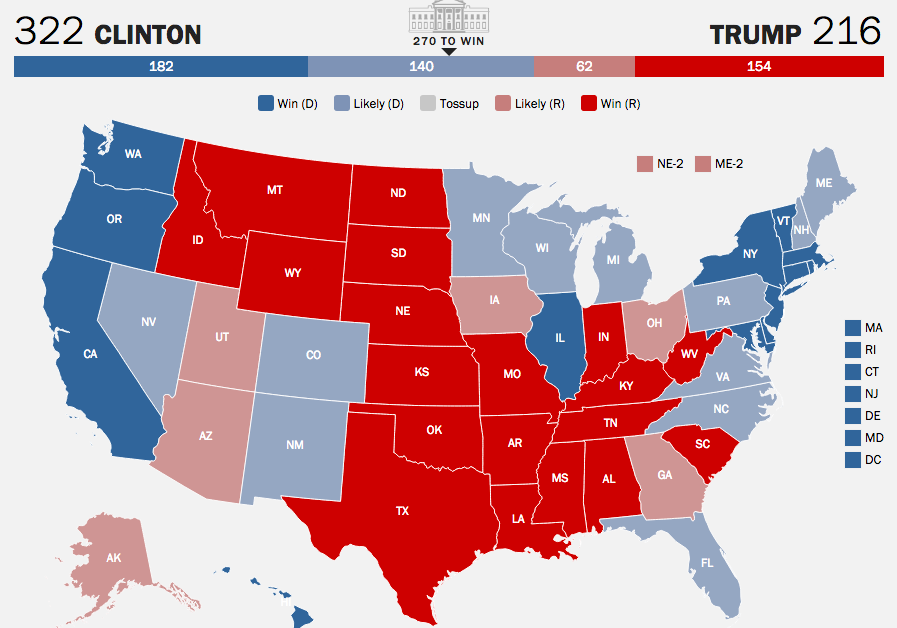 Election 2016 7 Maps Predict Paths To Electoral Victory Time