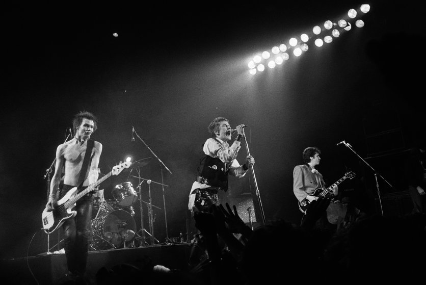 The Sex Pistols at Winterland in San Francisco, 1978.