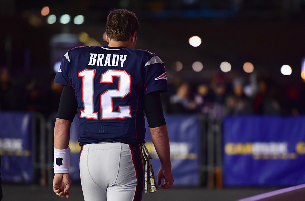 Tom Brady #12 of the New England Patriots reacts following a game against the Seattle Seahawks at Gillette Stadium on November 13, 2016 in Foxboro, Massachusetts.