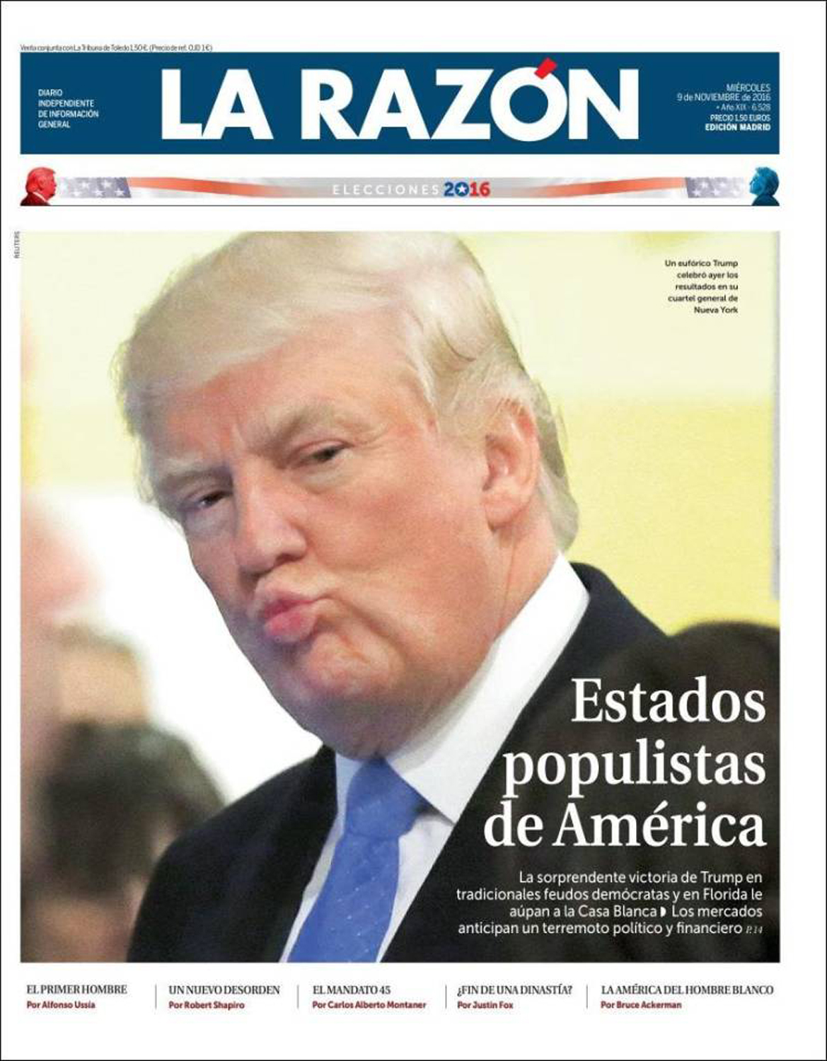 """Populist States of America"" on La Razon, Spain"