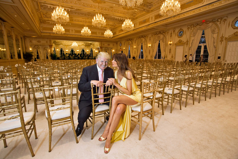 Donald Trump and Melania Trump at the Mar-a-Lago Club in Palm Beach, Fla.