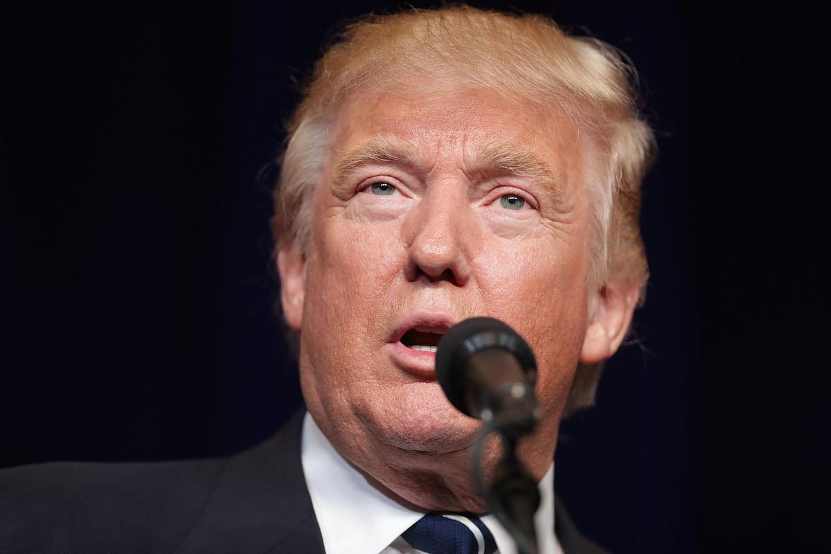 Republican Donald Trump campaigns on Nov. 1, 2016 in Altoona, Wisc.