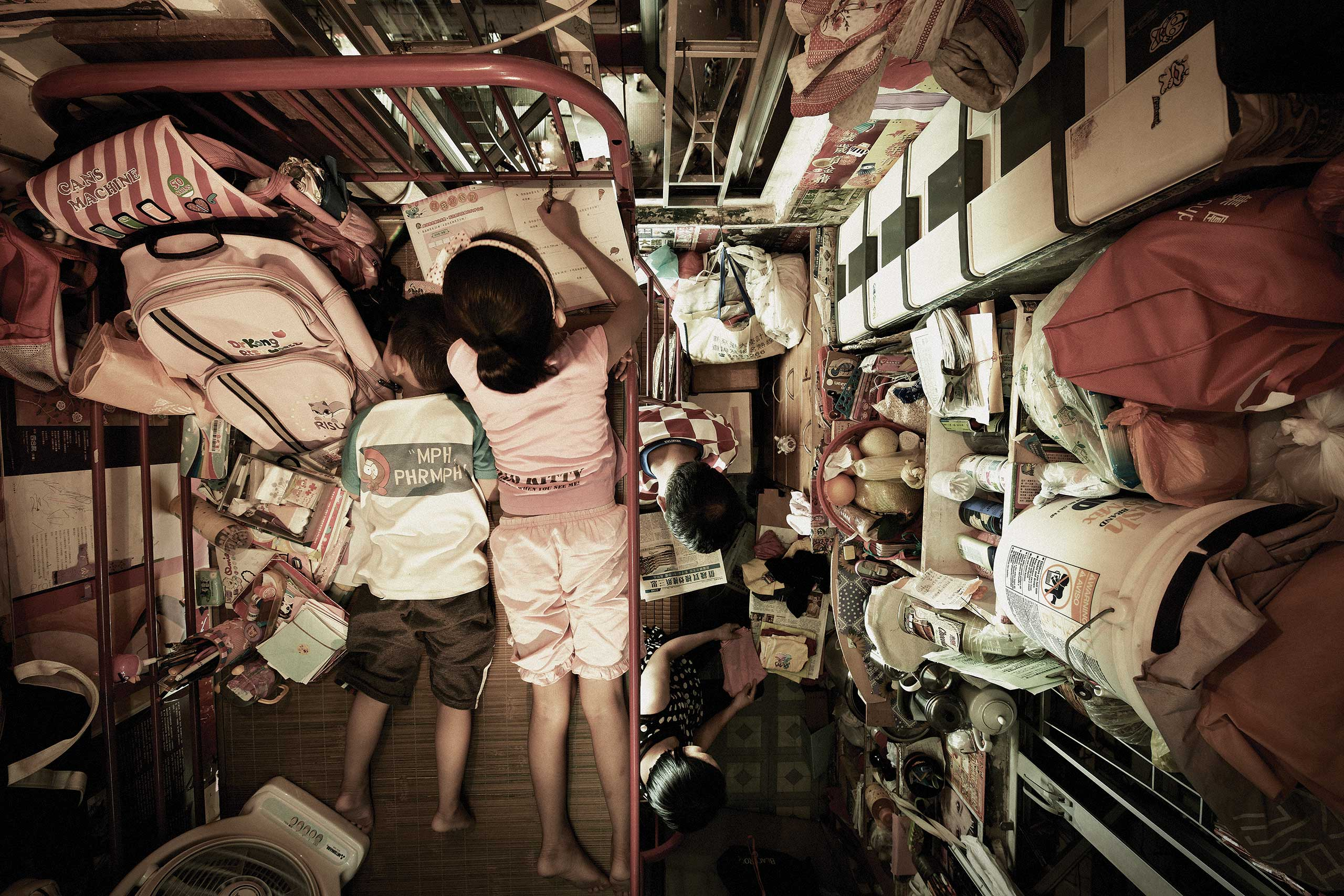 Trapped 08. From the Series: Subdivided Flats, 2012, Hong Kong.