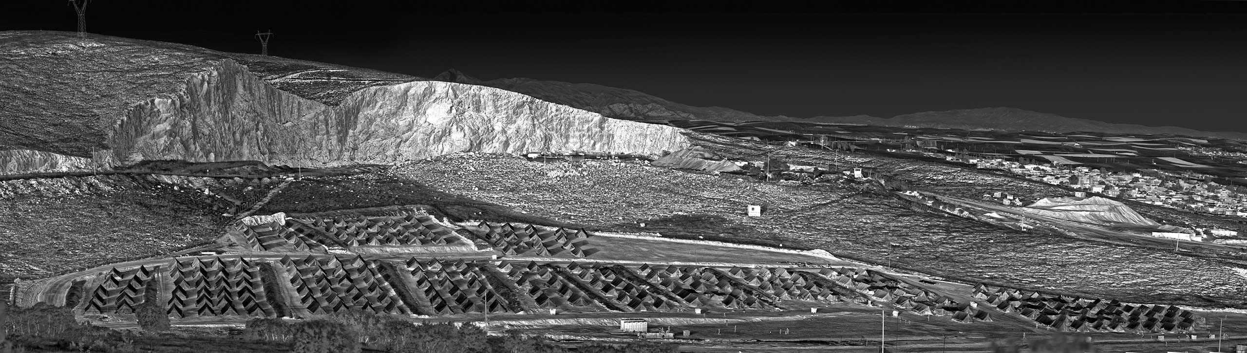 From the Larissa                               series: Heat Maps                               digital Chromogenic metallic print. Larissa, Greece, 2016