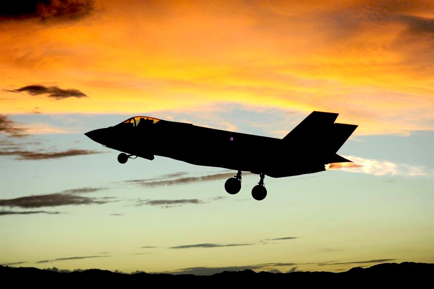 An Air Force F-35 takes off from Luke Air Force Base, Arizona.