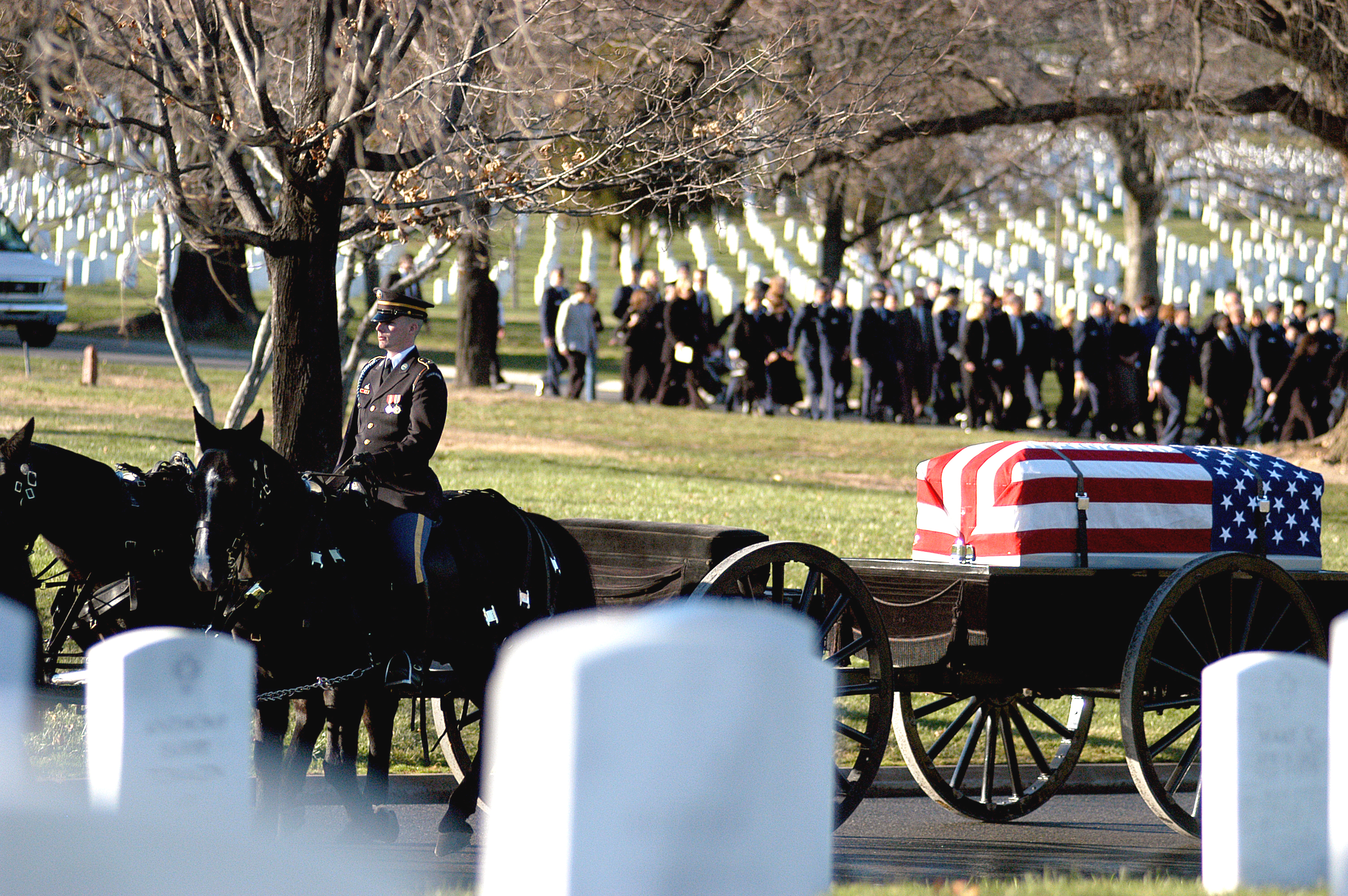 Dec. 11, 2006. Troy Gilbert's first funeral at Arlington National Cemetery.