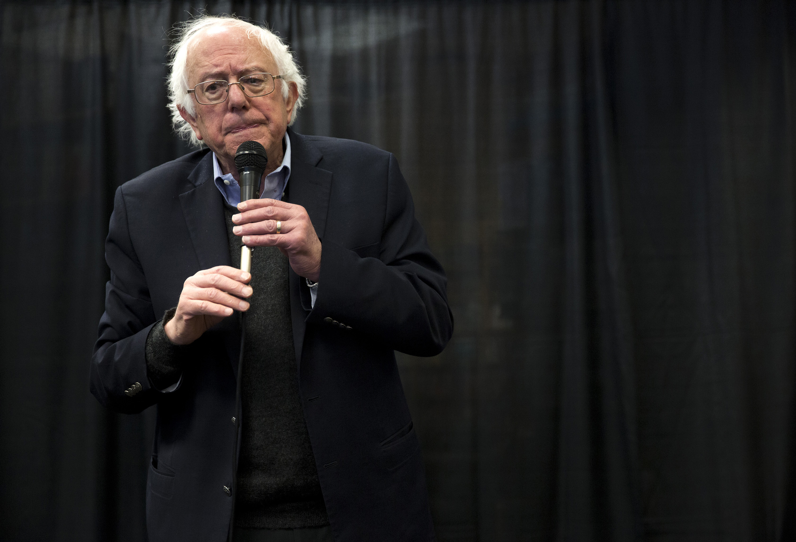 Senator Bernie Sanders speaks to supporters at a meet and greet promoting his new book, Our Revolution, at Books-A-Million in South Portland, ME., on Nov. 21, 2016.