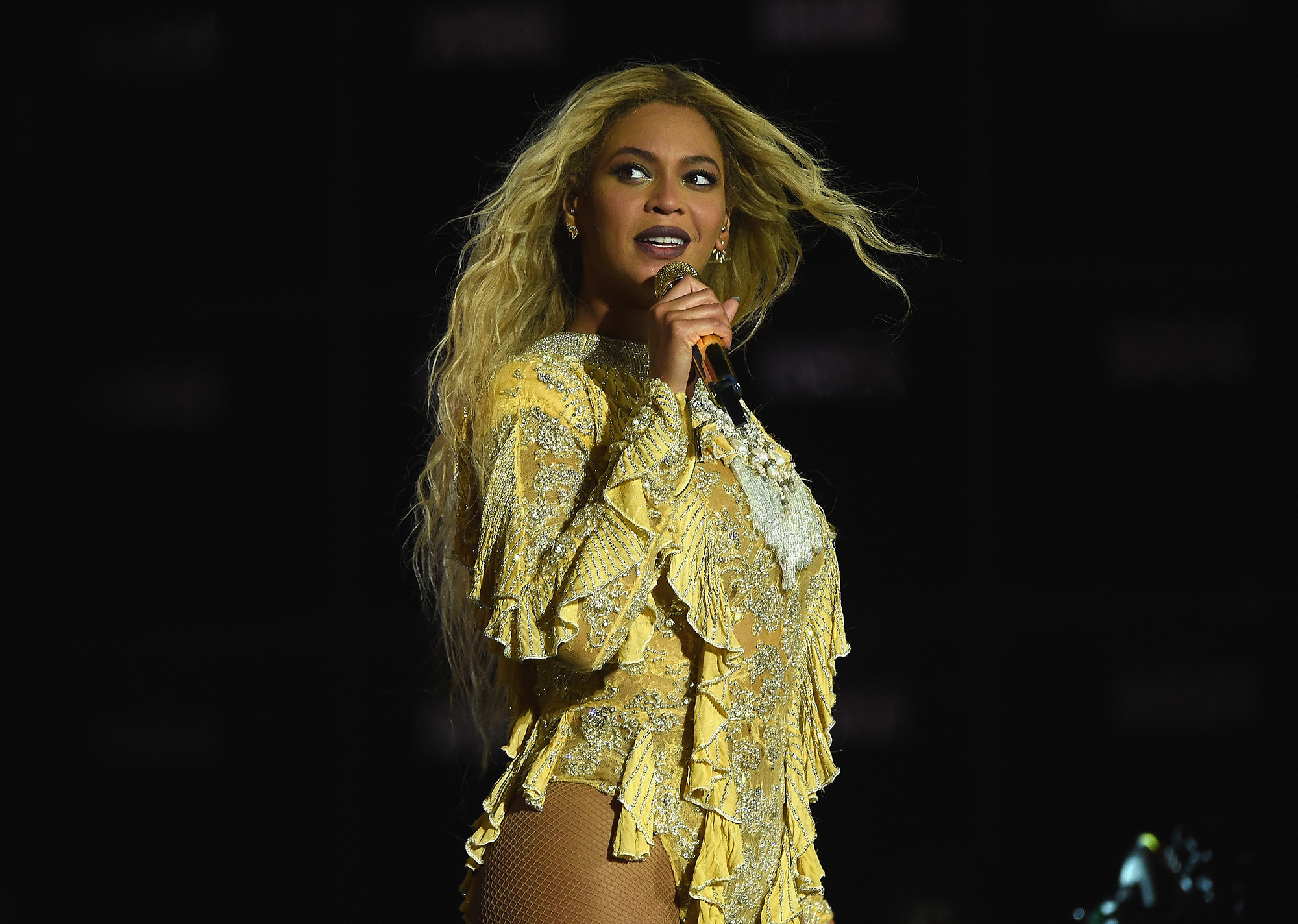 Beyonce performs during  The Formation World Tour  at MetLife Stadium on Oct. 7, 2016 in East Rutherford, New Jersey.