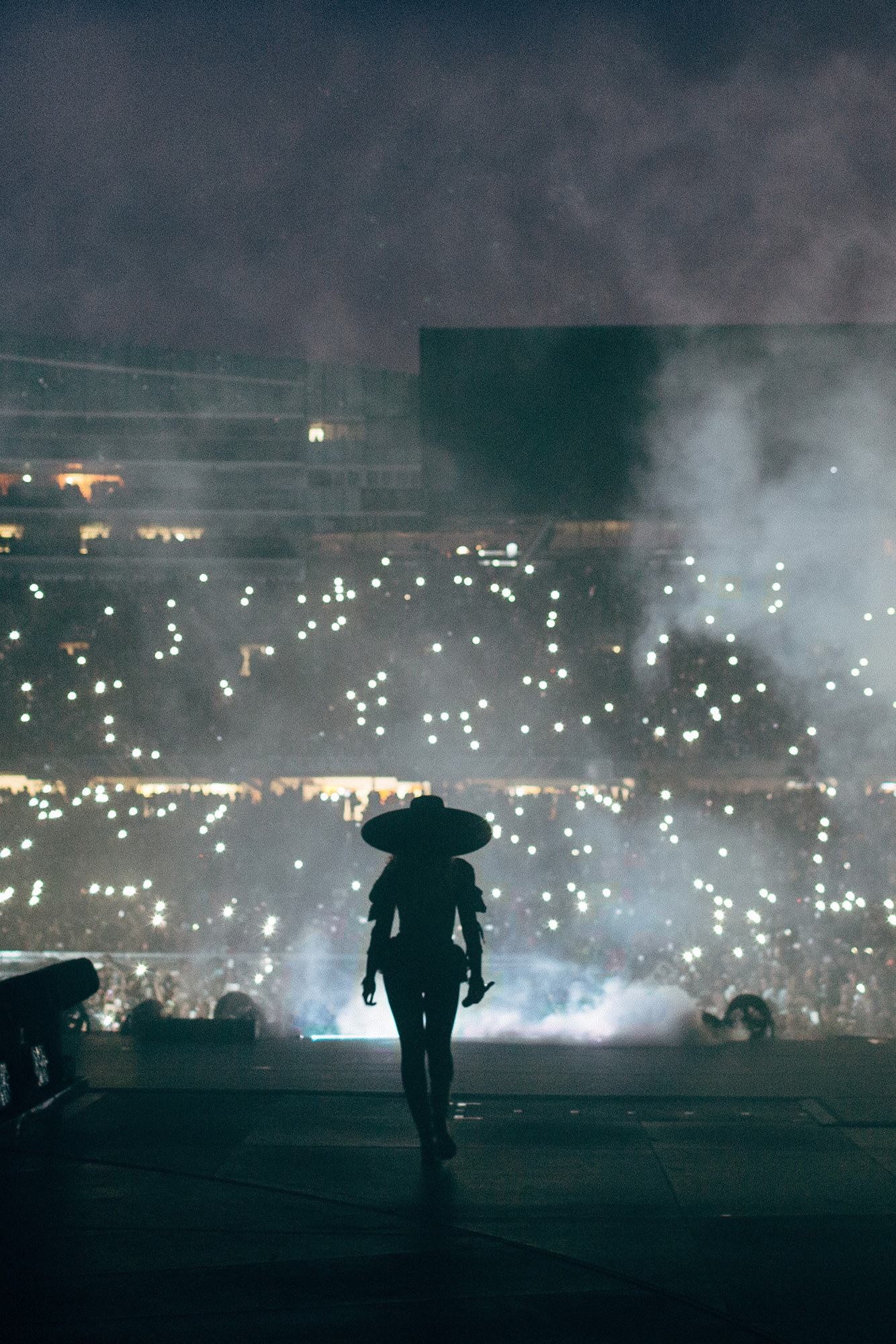 Beyoncé takes the stage during her Formation World Tour in Chicago on May 27, 2016.