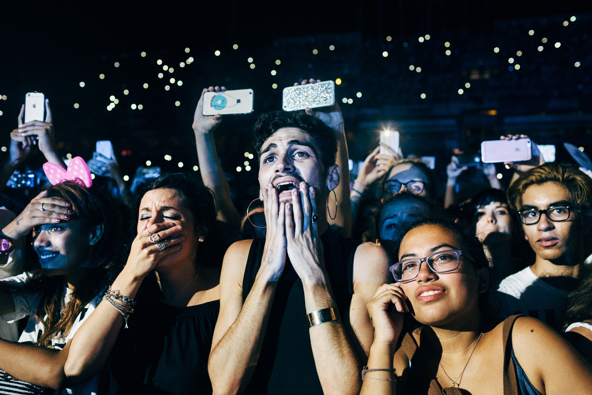 Fans at Beyoncé's  Formation World Tour in Barcelona on Aug. 4, 2016.