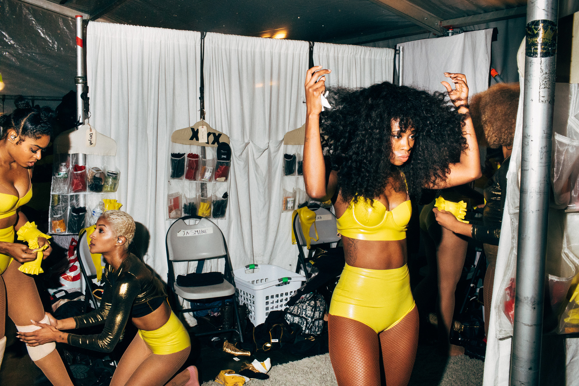 Dancers warm up for Beyoncé's Formation World Tour at Met Life Stadium in New Jersey  on Oct. 7, 2016.