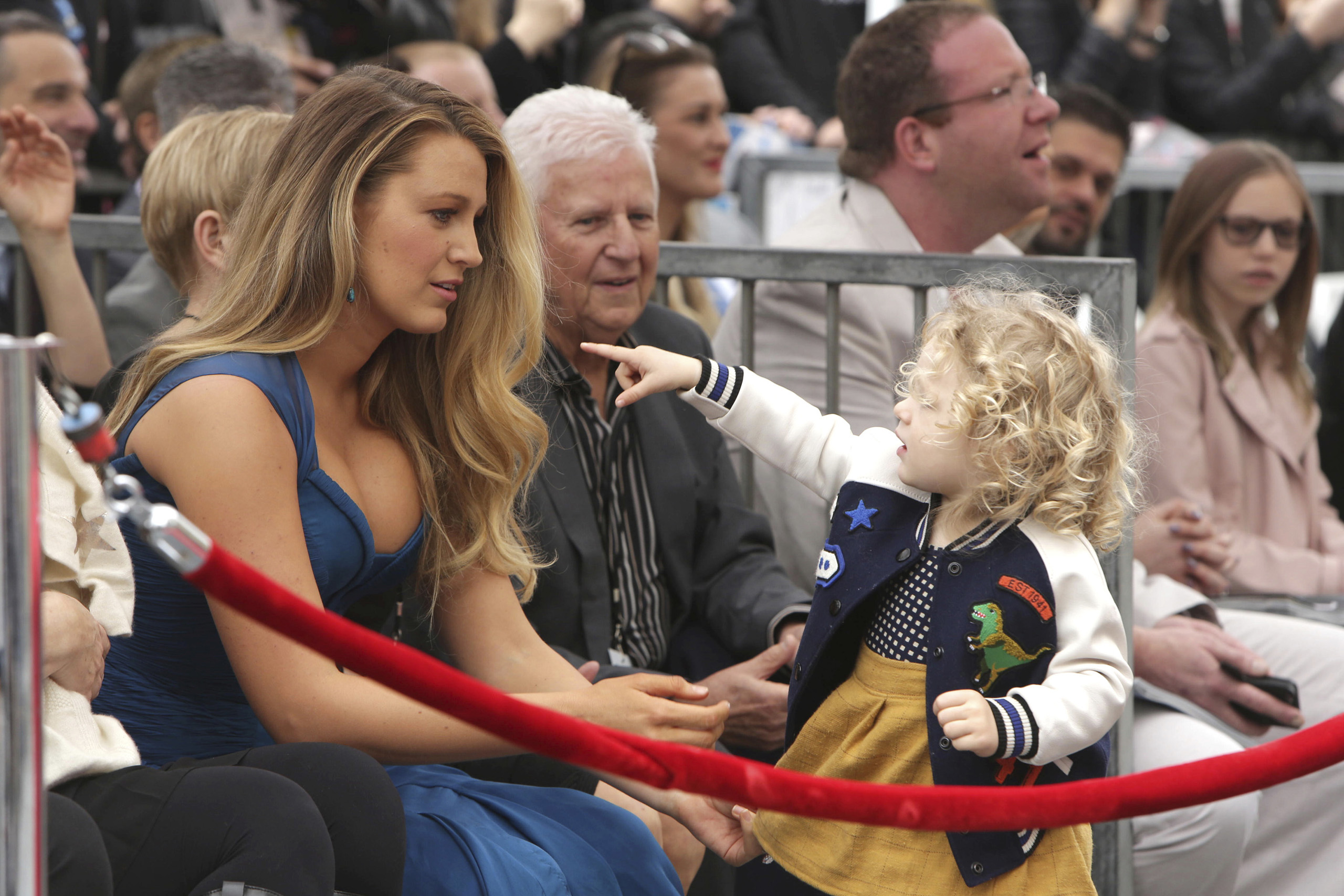 Blake Lively and her daughter James Reynolds seen at Ryan Reynolds Honored with Star on the Hollywood Walk of Fame in Los Angeles, on Dec. 15, 2016. (Photo by Eric Charbonneau/Invision for Twentieth Century Fox/AP Images)