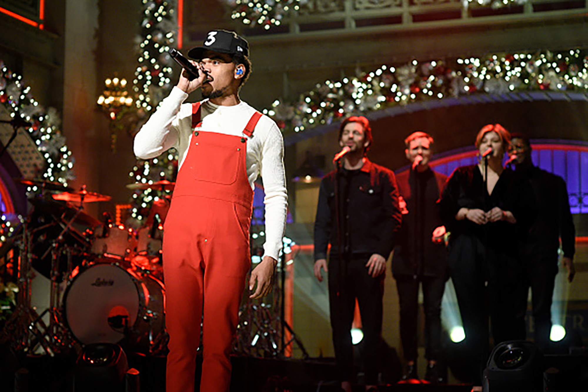 Chance The Rapper performs on December 17, 2016 at Saturday Night Live (Photo by: Will Heath/NBC/NBCU Photo Bank via Getty Images)