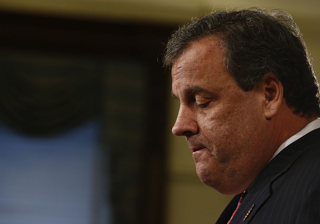 New Jersey Gov. Chris Christie speaks about his knowledge of a traffic study that snarled traffic at the George Washington Bridge during a news conference on Jan. 9, 2014 at the Statehouse in Trenton, New Jersey.