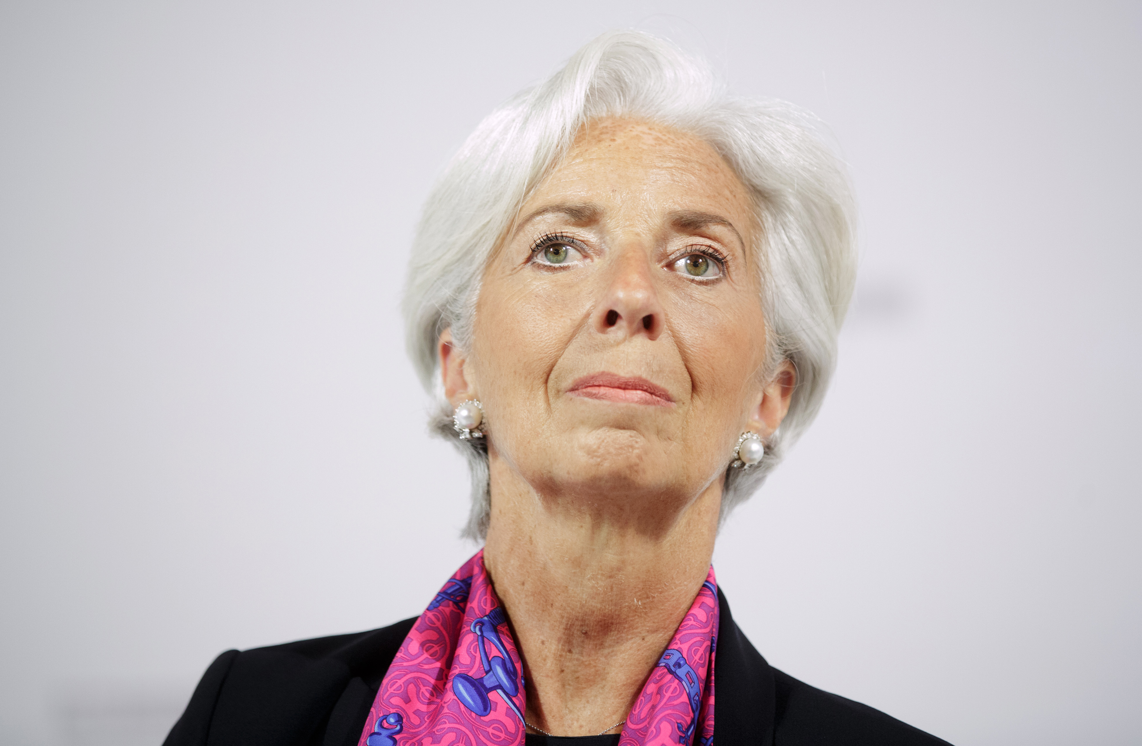 Christine Lagarde, managing director of the International Monetary Fund (IMF), looks on during a panel session at the Hofburg Palace in Vienna, Austria, on Friday, June 17, 2016.