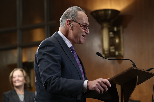 Sen. Chuck Schumer (D-NY), the next Senate Minority Leader, speaks during a press conference December 1, 2016 in Washington, D.C.