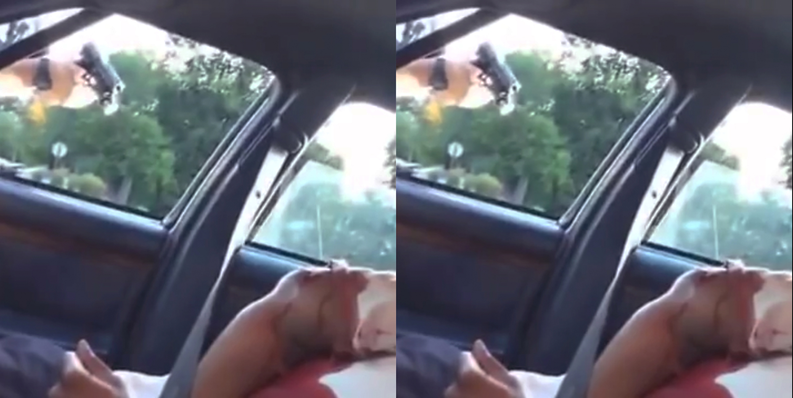 This still image taken from video by Diamond Reynolds shows a police officer pointing a gun at her boyfriend, Philando Castile, during a traffic stop  in Falcon Heights, Minn., July 6, 2016.