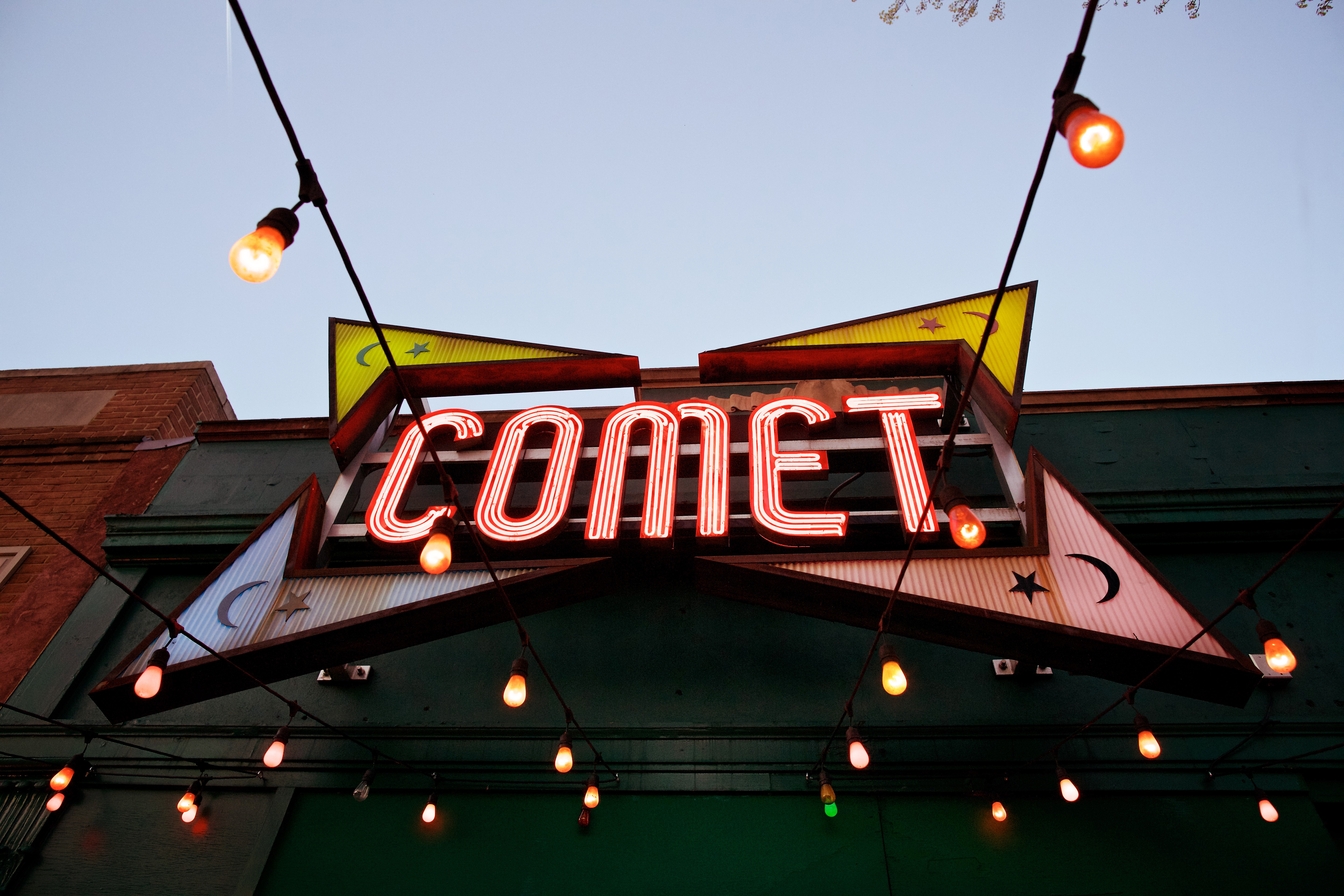 Exterior of Comet Ping Pong photographed in Washington, DC.