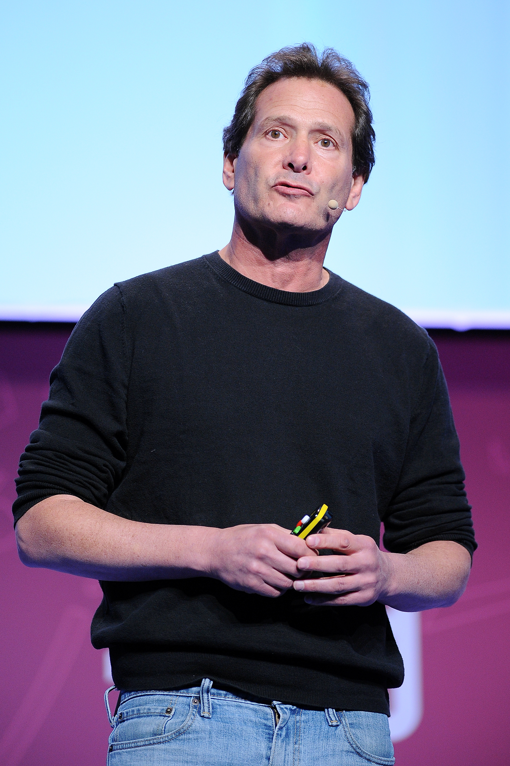 Dan Schulman, president and CEO of Paypal, speaks on the first day of Mobile World Congress 2016 in Barcelona, Spain, on Feb. 22, 2016.