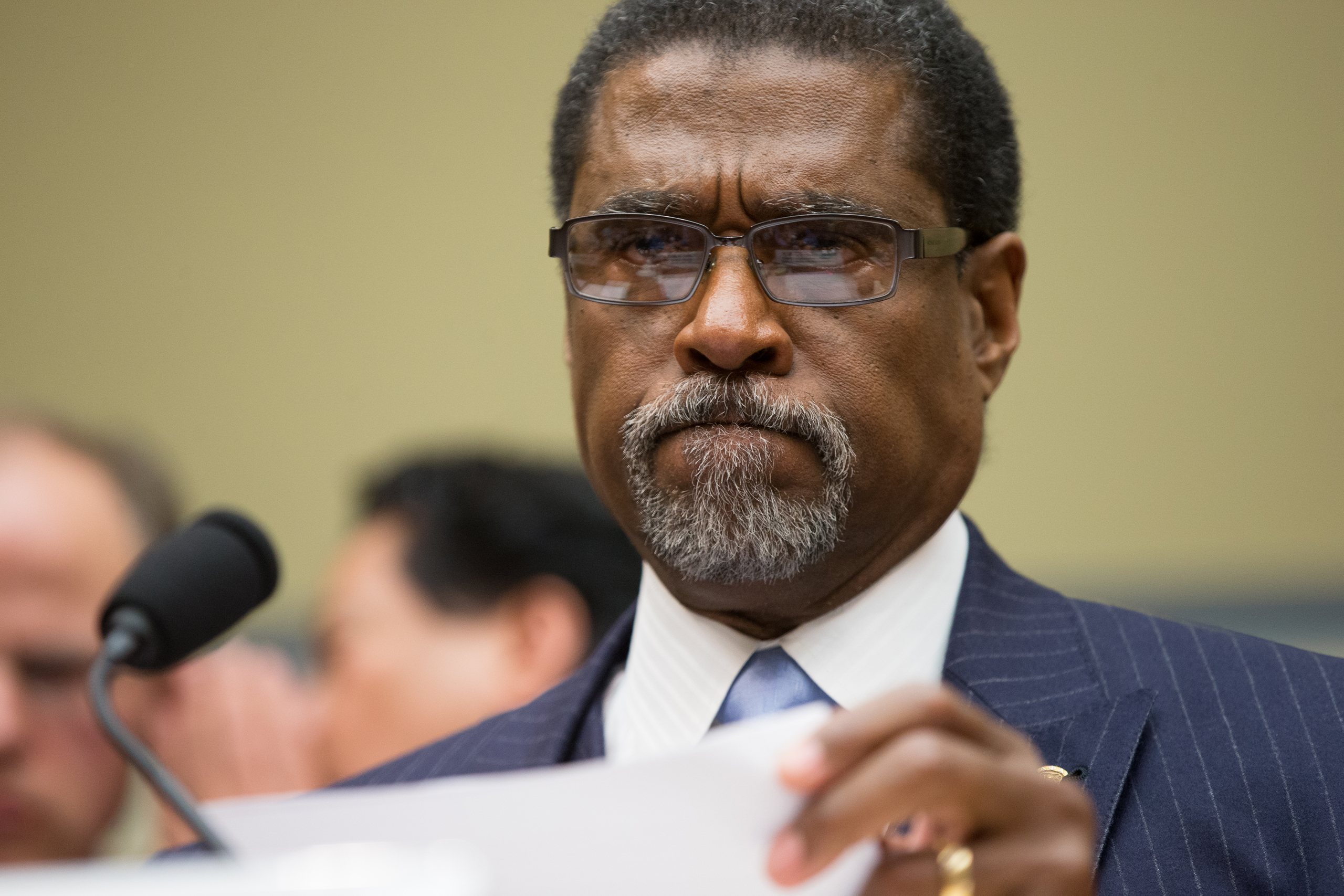 Former Flint, Mich., Emergency Manager Darnell Earley appears before a House Oversight and Government Reform Committee hearing, in Washington, on March 15, 2016.