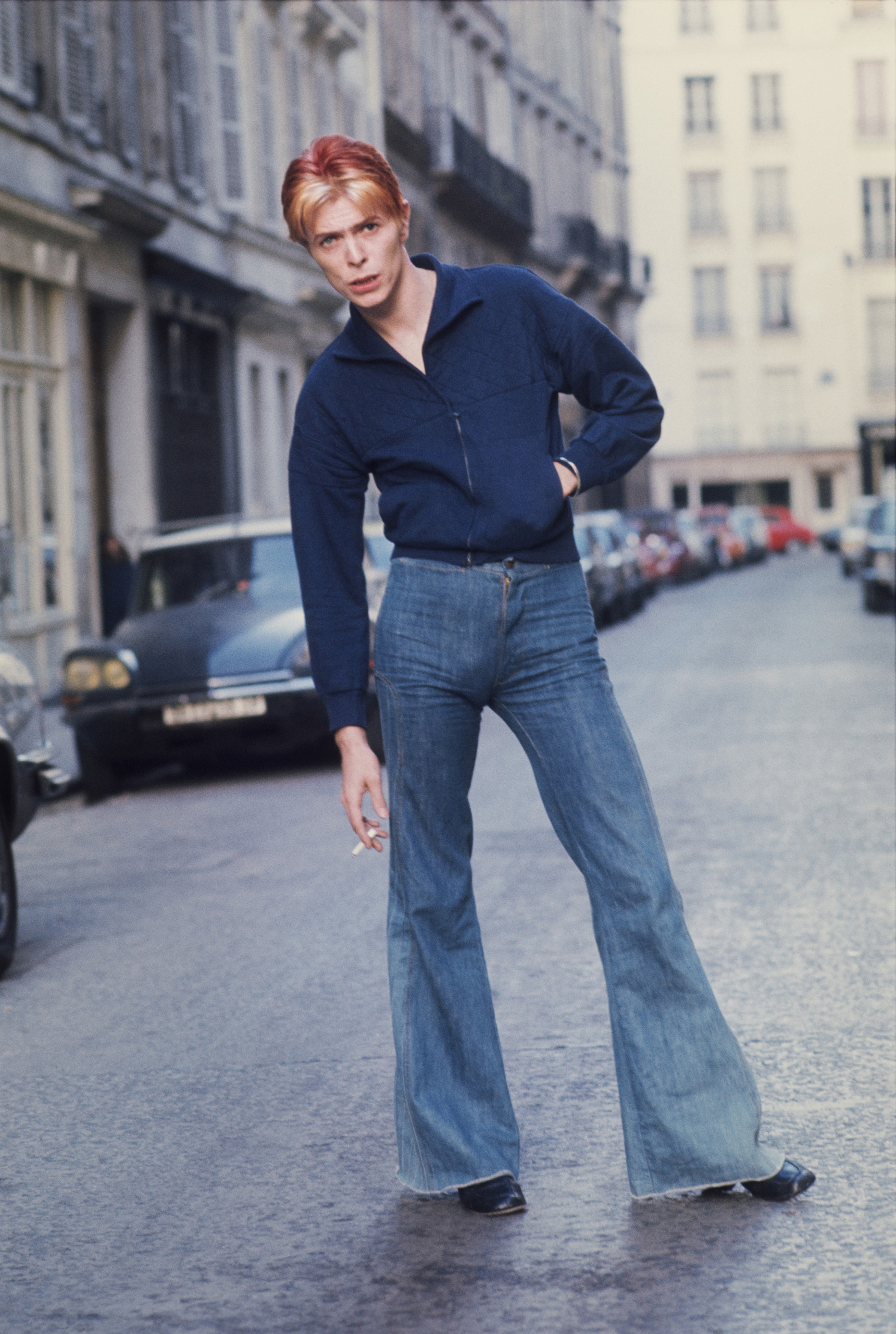 Bowie called Andrew Kent to his hotel suite at L'Hotel in Paris for an impromptu photo shoot in the street outside.