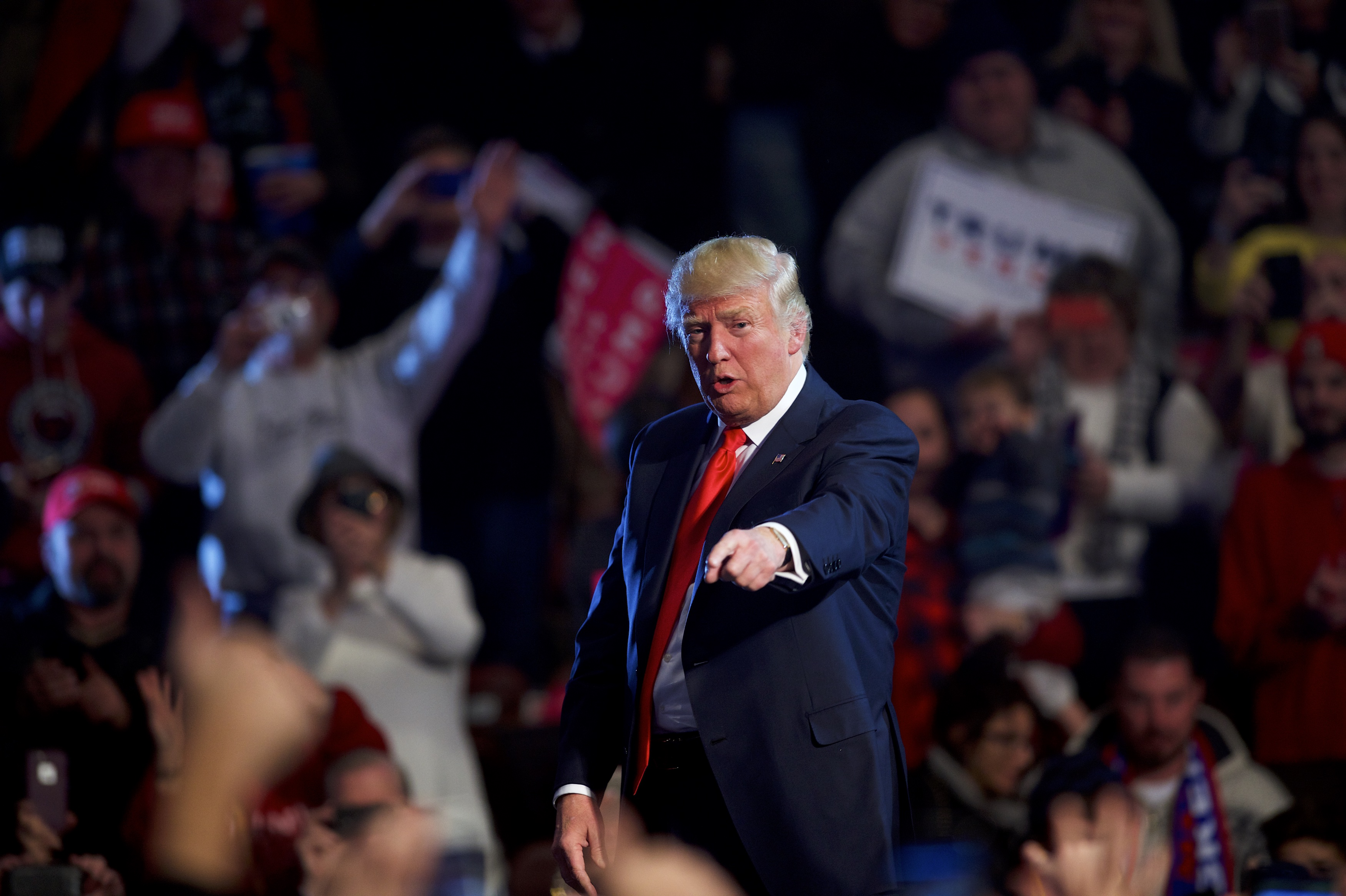 President-elect Donald J. Trump holds a  Thank You Tour 2016 Rally  December 15, 2016 at Giant Center in Hershey, Pennsylvania.