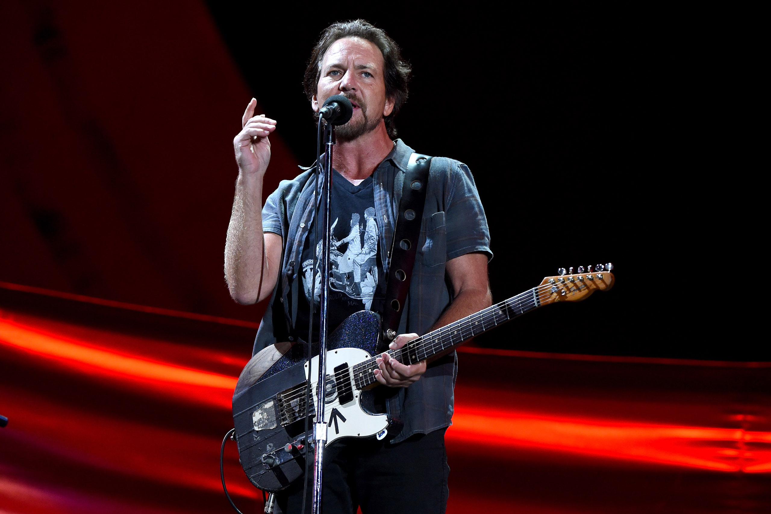 Eddie Vedder performs onstage at the 2016 Global Citizen Festival to End Extreme Poverty by 2030 at Central Park on Sept. 24, 2016.