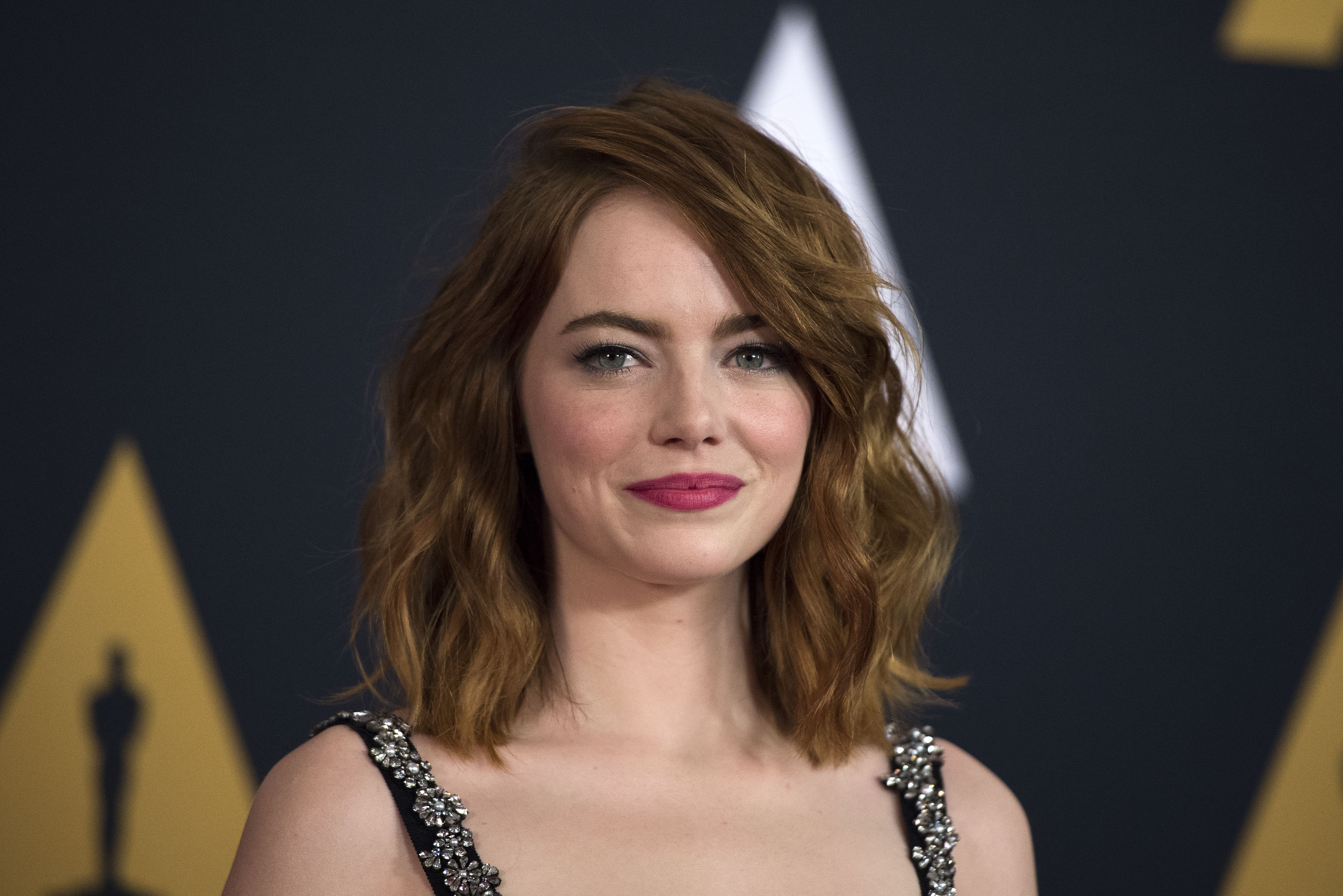 Actress Emma Stone attends the 8th Annual Governors Awards hosted by the Academy of Motion Picture Arts and Sciences on November 12, 2016, at the Hollywood & Highland Center in Hollywood, California.