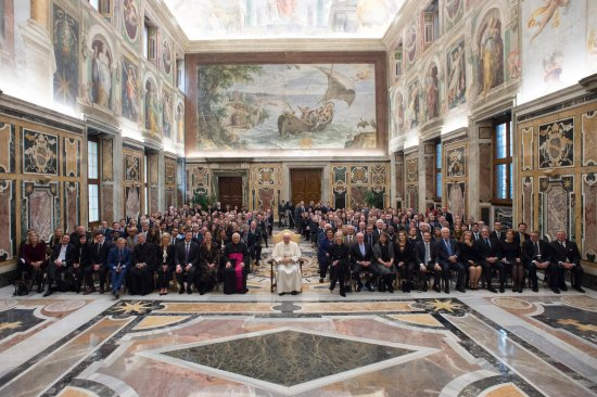 Pope Francis meets entrepreneurs 'Fortune-Time Global Forum'