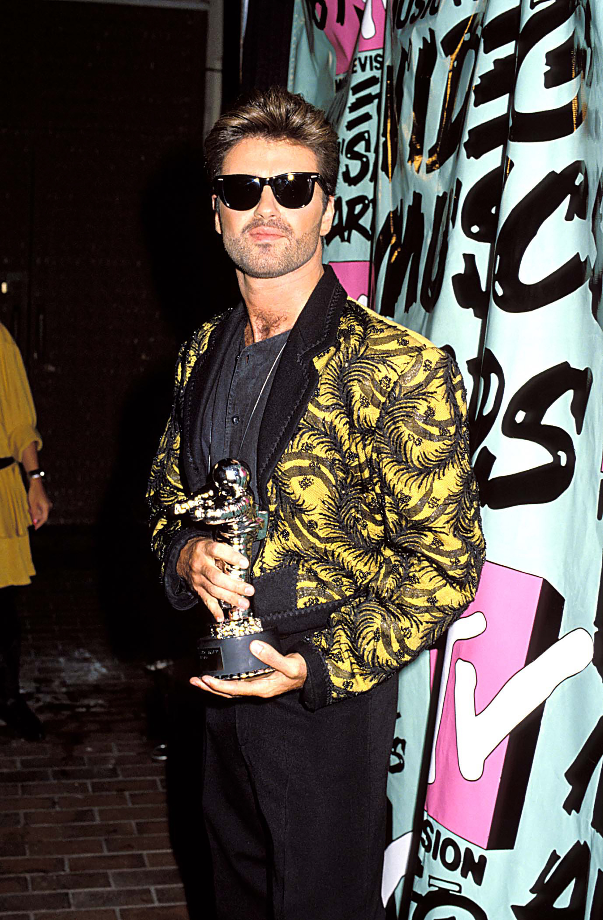 George Michael during the 1989 MTV Video Music Awards in Los Angeles, on Sept. 9, 1989.