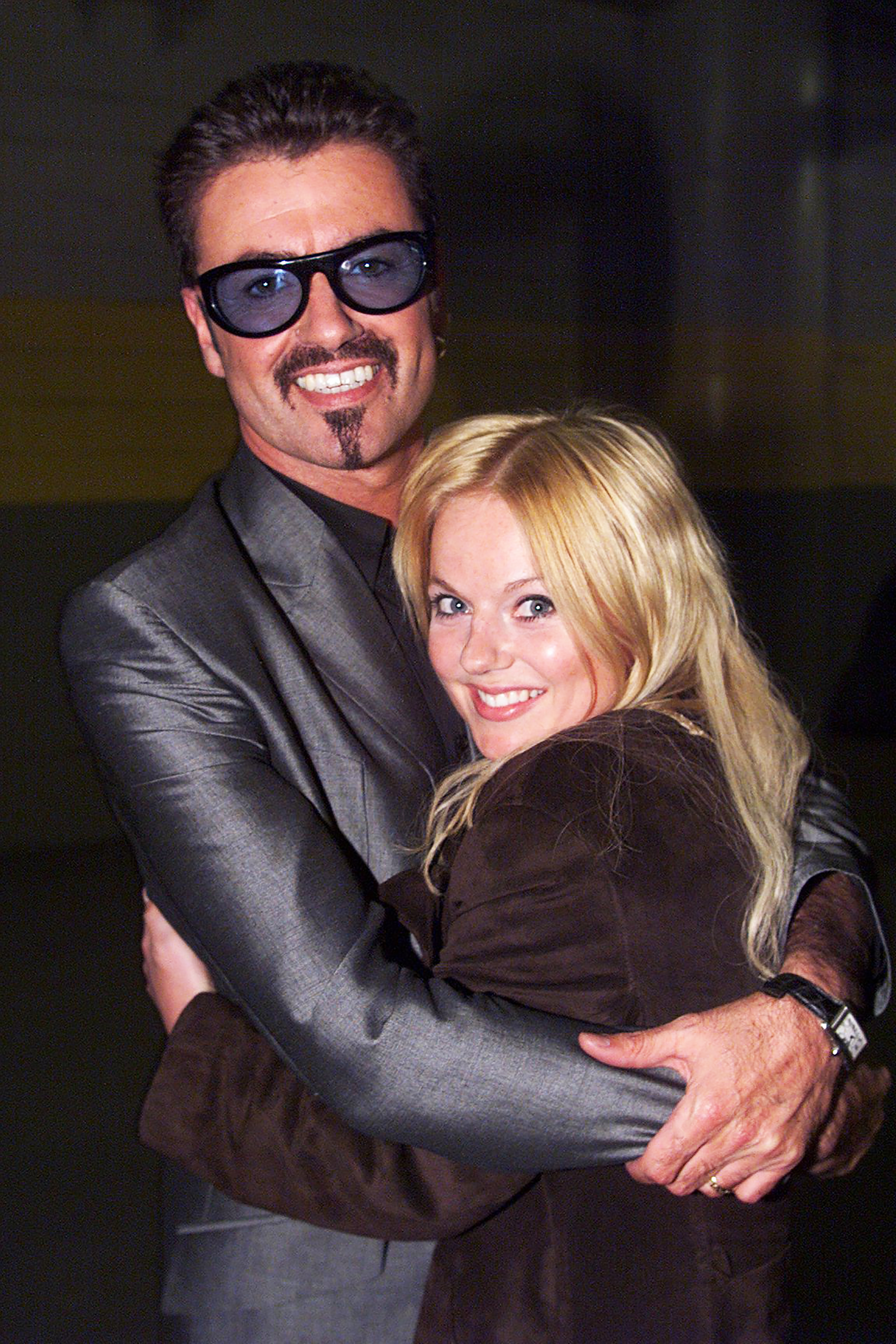 George Michael and Geri Halliwell during the Equality Rocks Concert at RFK Stadium in Washington, D.C., on April 29, 2000.