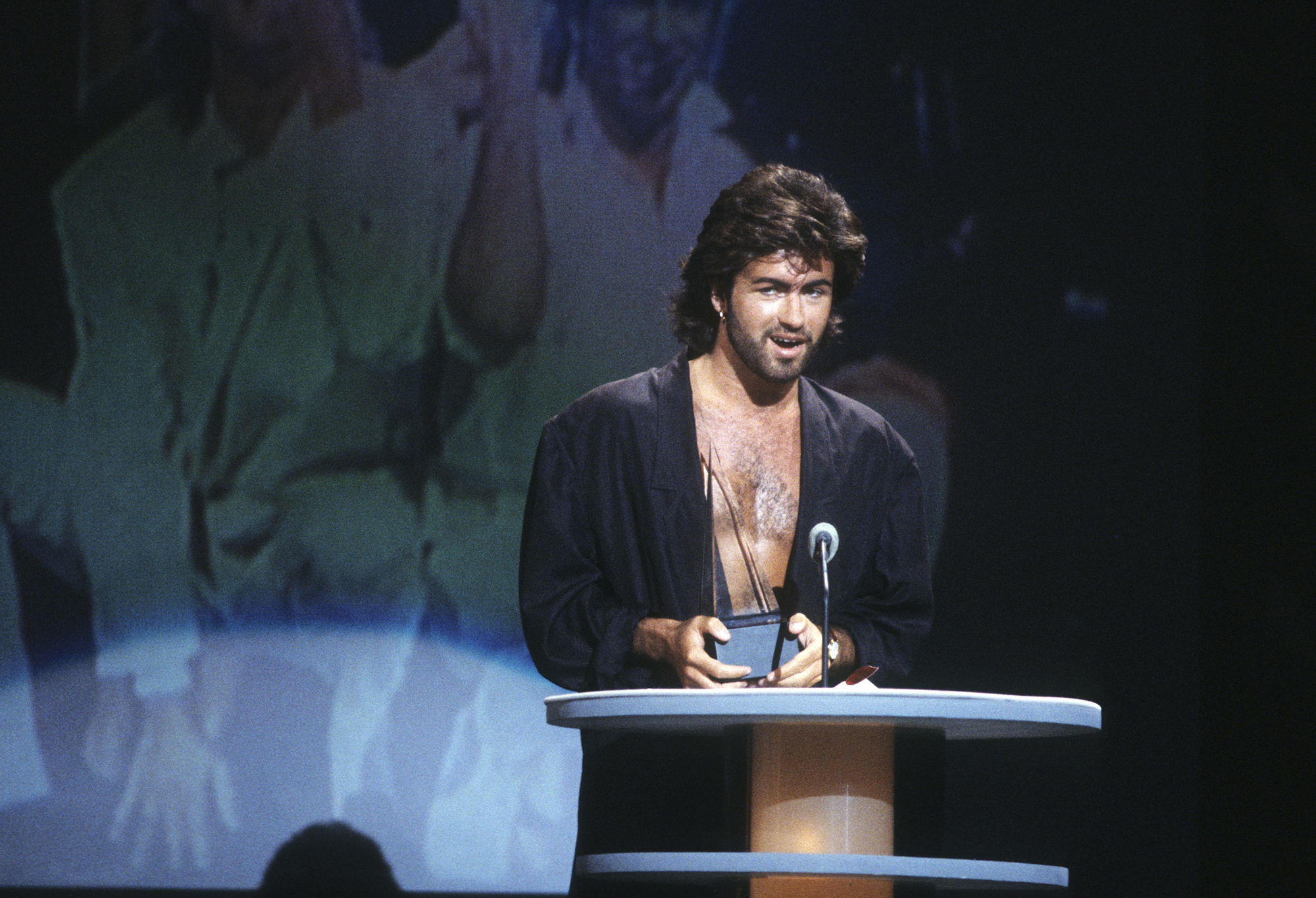 George Michael at the American Music Awards, on Jan. 27, 1986.