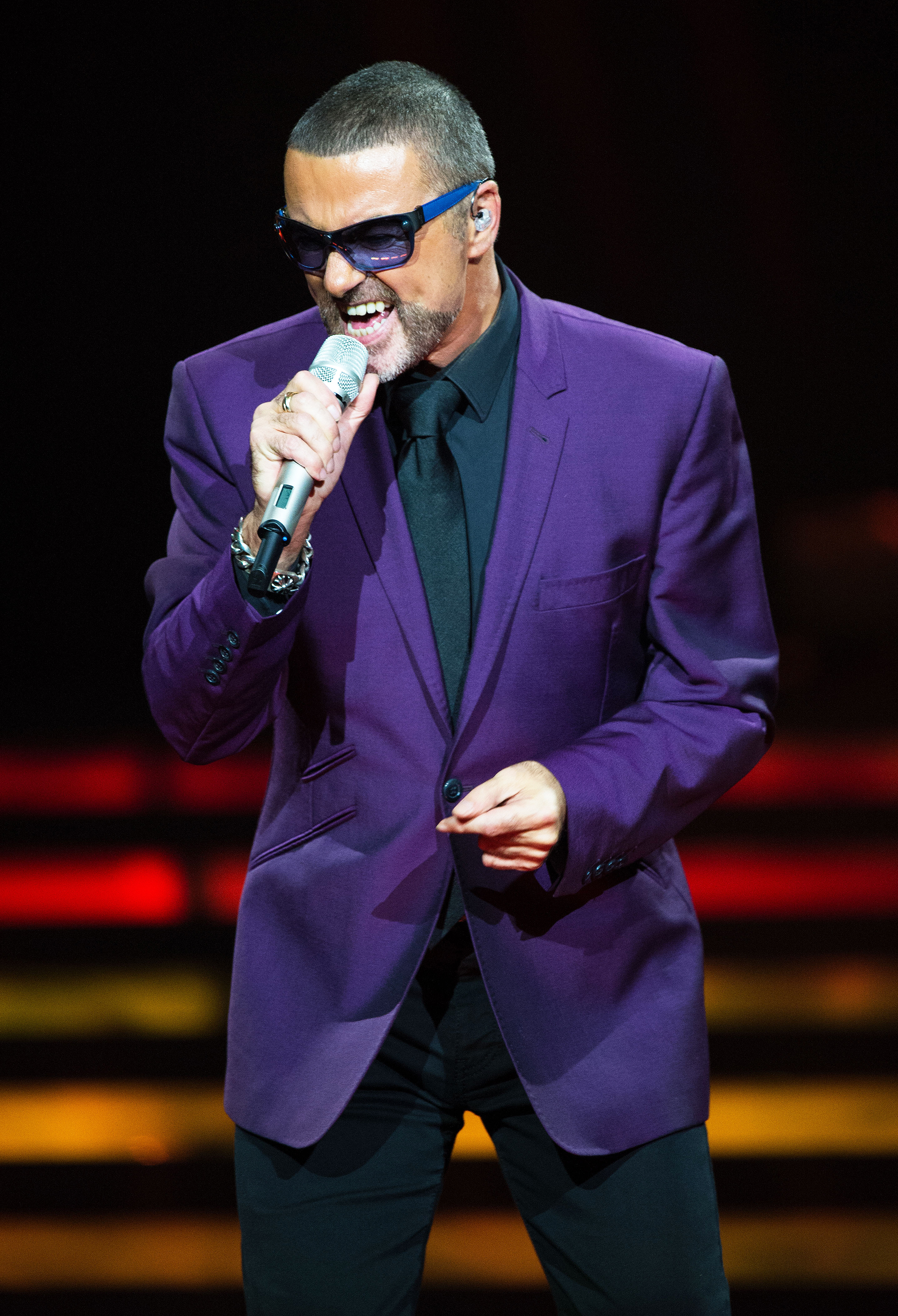 George Michael performs at the Royal Albert Hall in London, on Sept. 29, 2012.