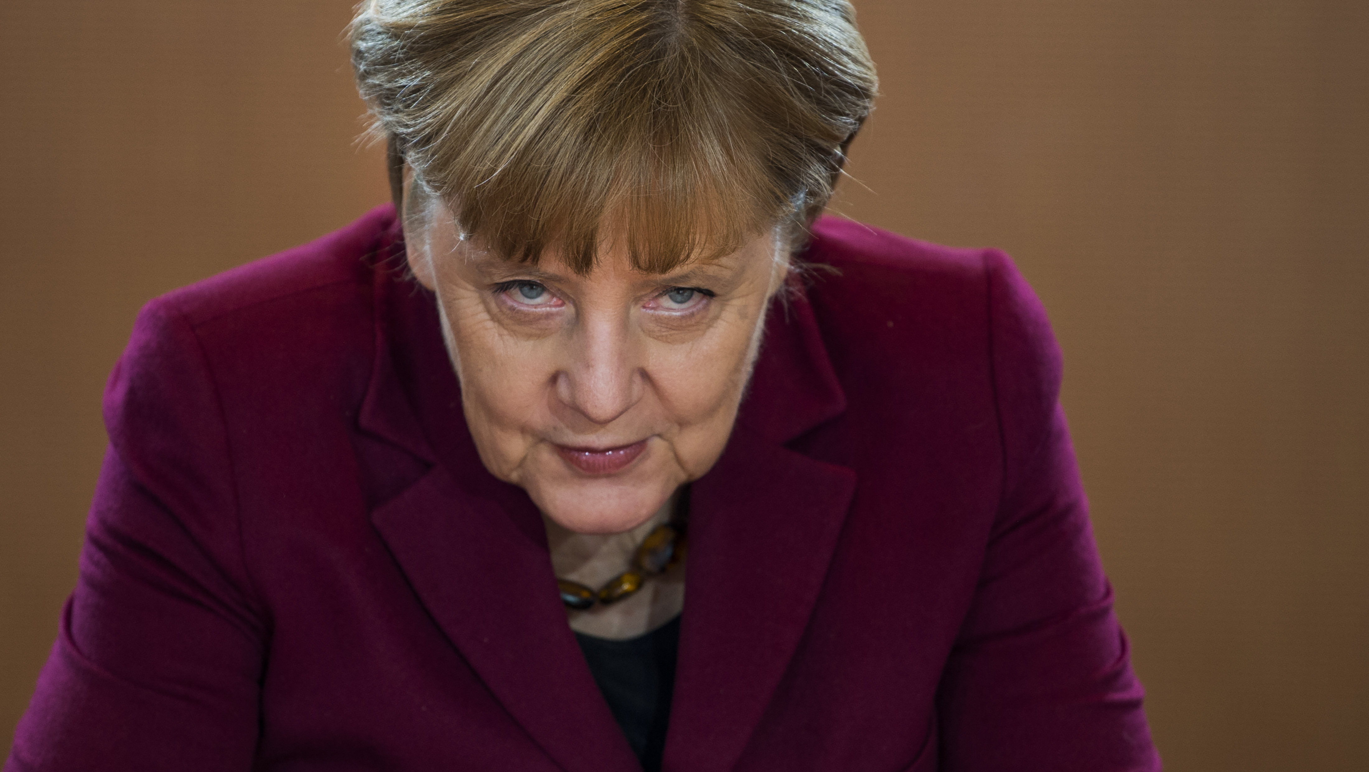 German Chancellor Angela Merkel arrives for the weekly cabinet meeting at the Chancellery in Berlin on December 9, 2016.
