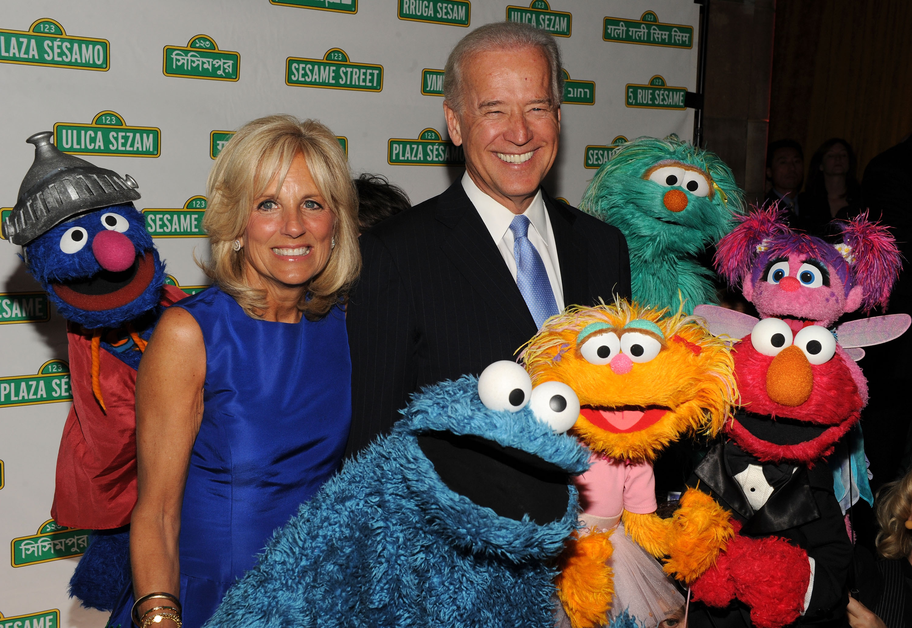 Vice President Joe Biden and Dr. Jill Biden attend Sesame Workshop's 8th Annual Benefit Gala in New York City. (Photo by Bryan Bedder/Getty Images)