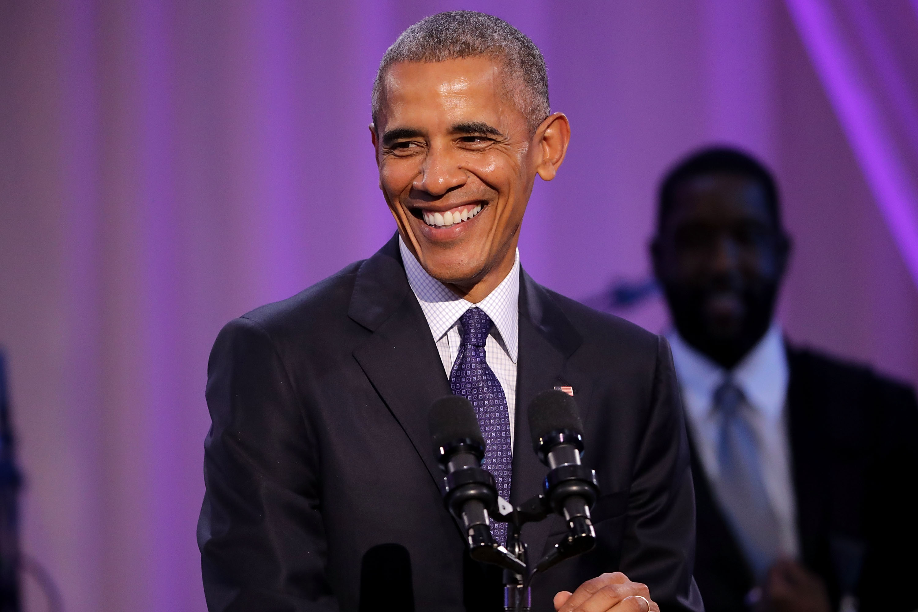 President Barack Obama during the BET's Love and Happiness: A Musical Experience on the South Lawn of the White House on Oct. 21, 2016, in Washington, D.C.