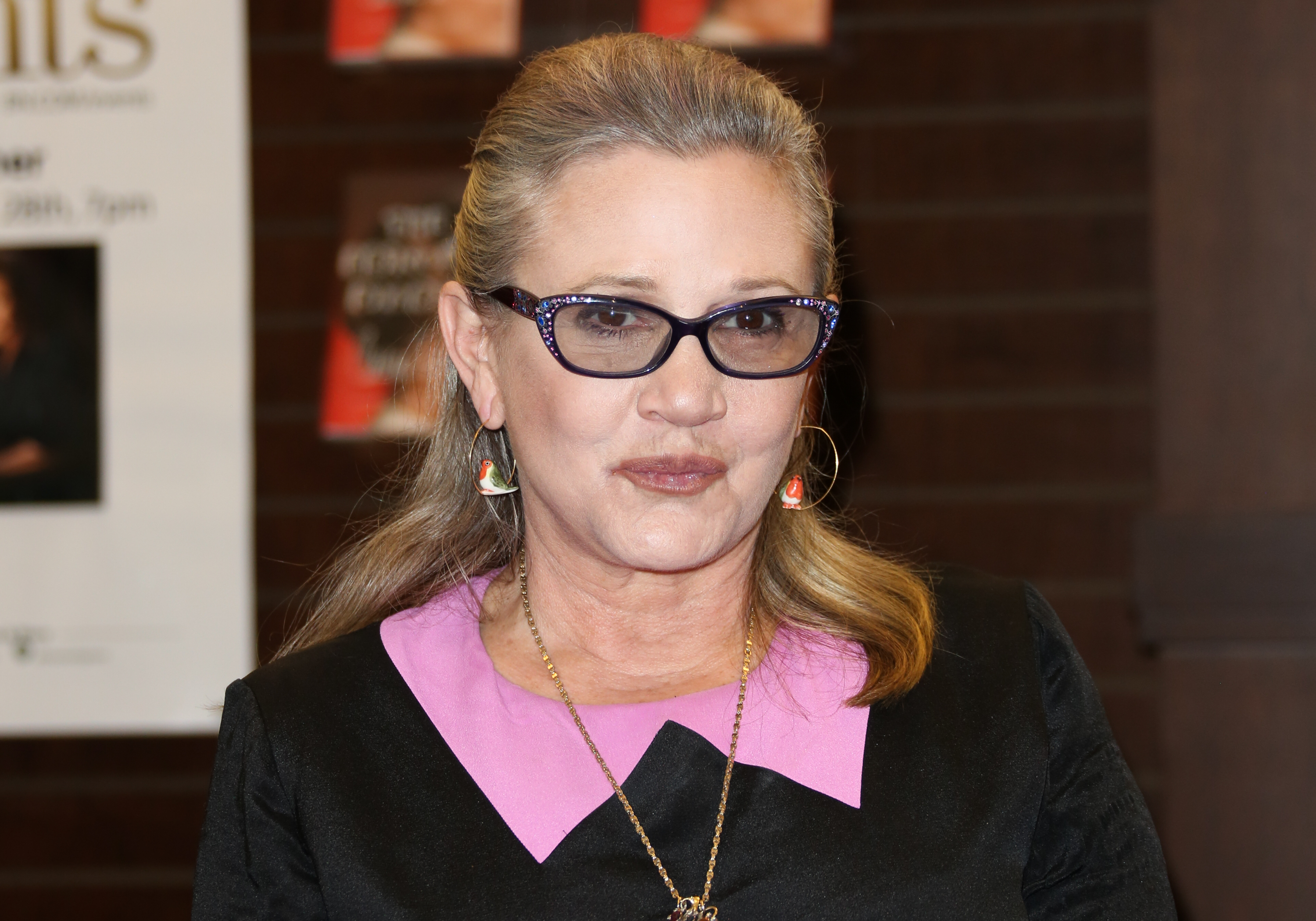 Actress Carrie Fisher signs copies of her new book  The Princess Diarist  at Barnes & Noble at The Grove on November 28, 2016 in Los Angeles, California.