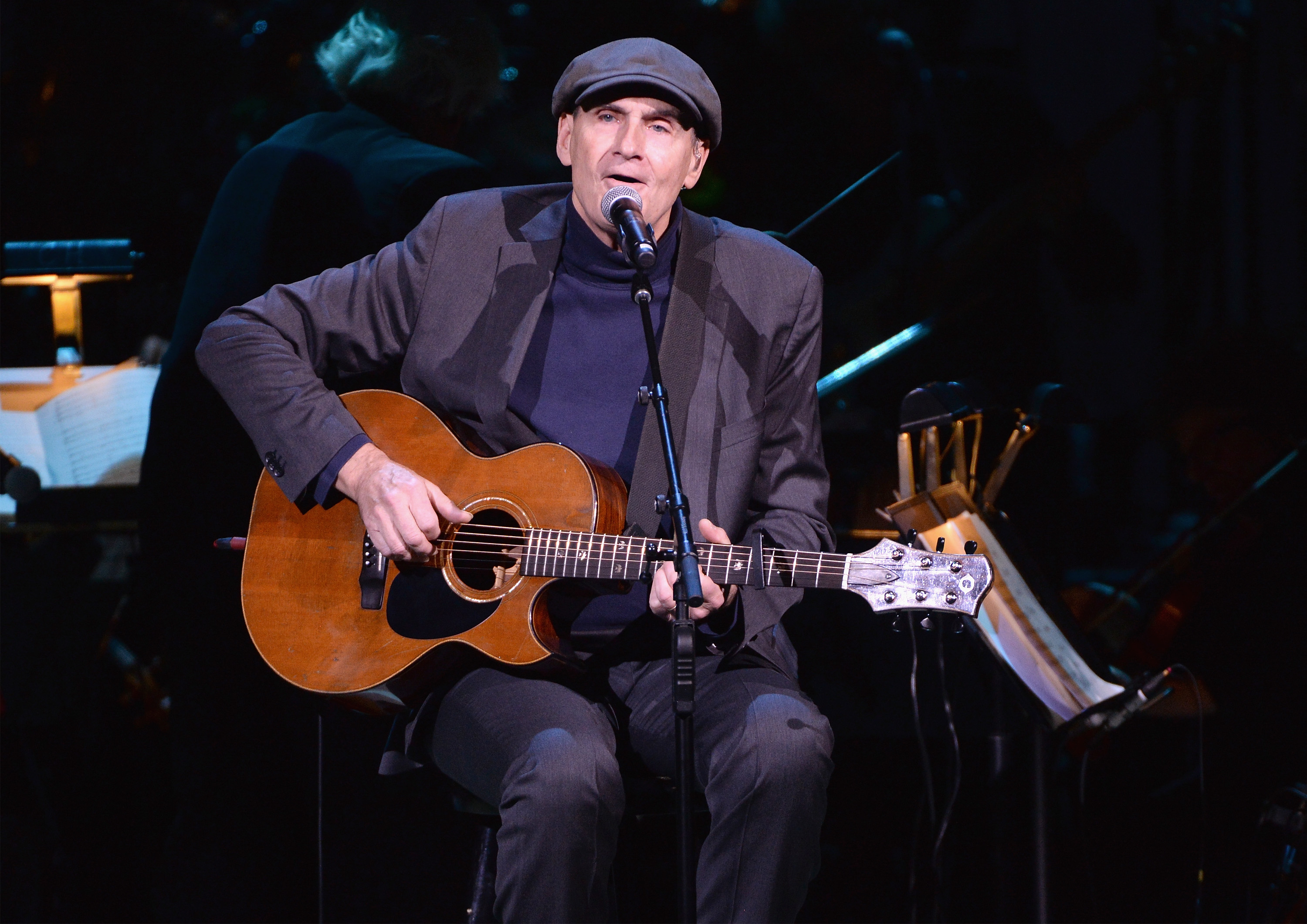James Taylor performs onstage at Carnegie Hall on December 14, 2016 in New York City.