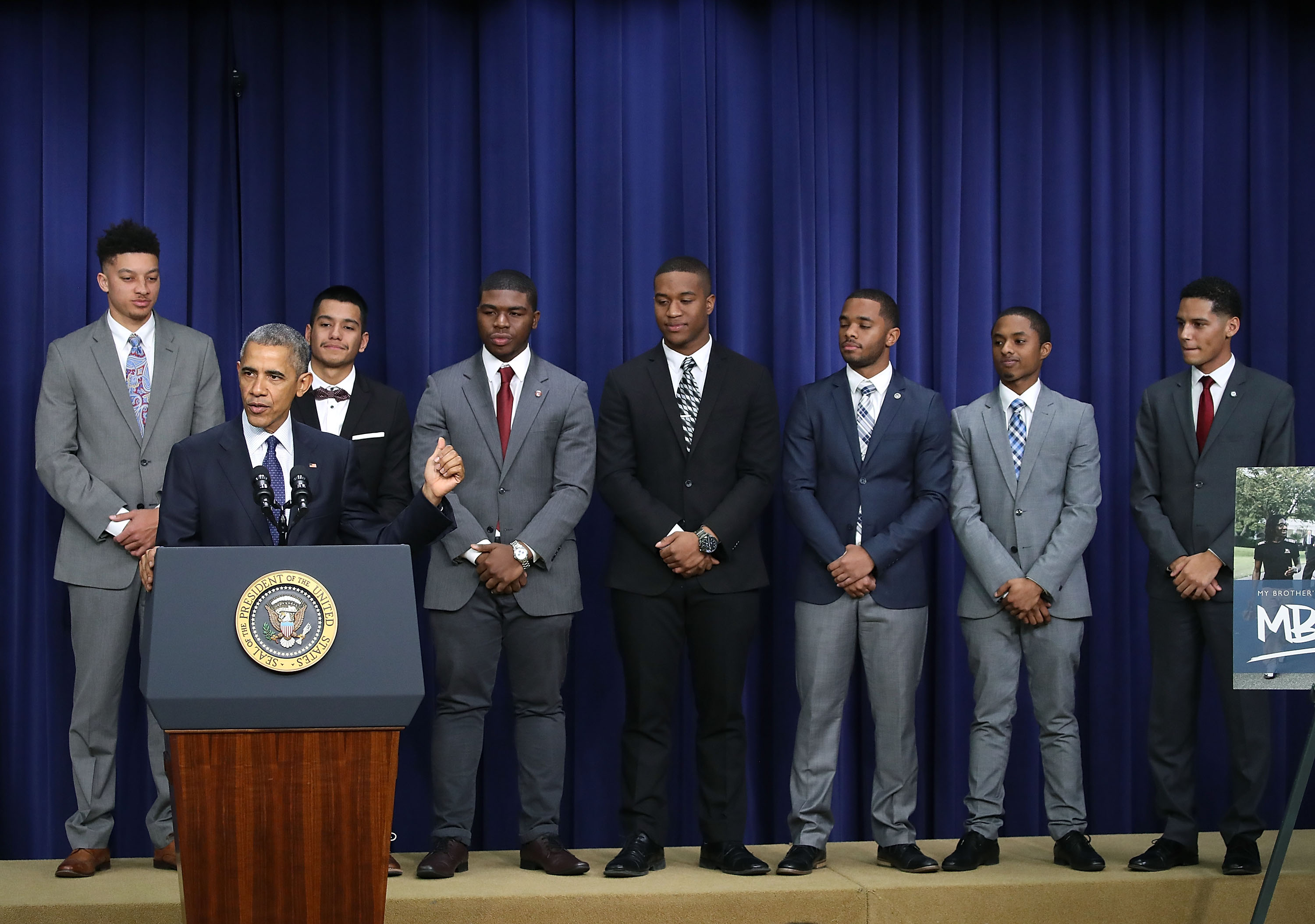 President Barack Obama speaks during the annual My Brother's Keeper event at the White House, Dec. 14, 2016 in Washington, DC.