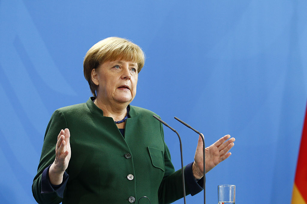 German Chancellor Angela Merkel and Greek Prime Minister Alexis Tsipras arrive to speak to the media prior to talks at the Chancellery on December 16, 2016 in Berlin, Germany. The two leaders are to reportedly mainly discuss EU-related issues, including the refugee situation, EU relations to Turkey and negotiations for a reunification of Cyprus, in addition to the current Greek economic situation.