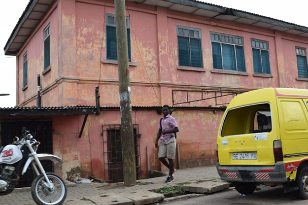 The exterior of the fake embassy in Accra, Ghana.