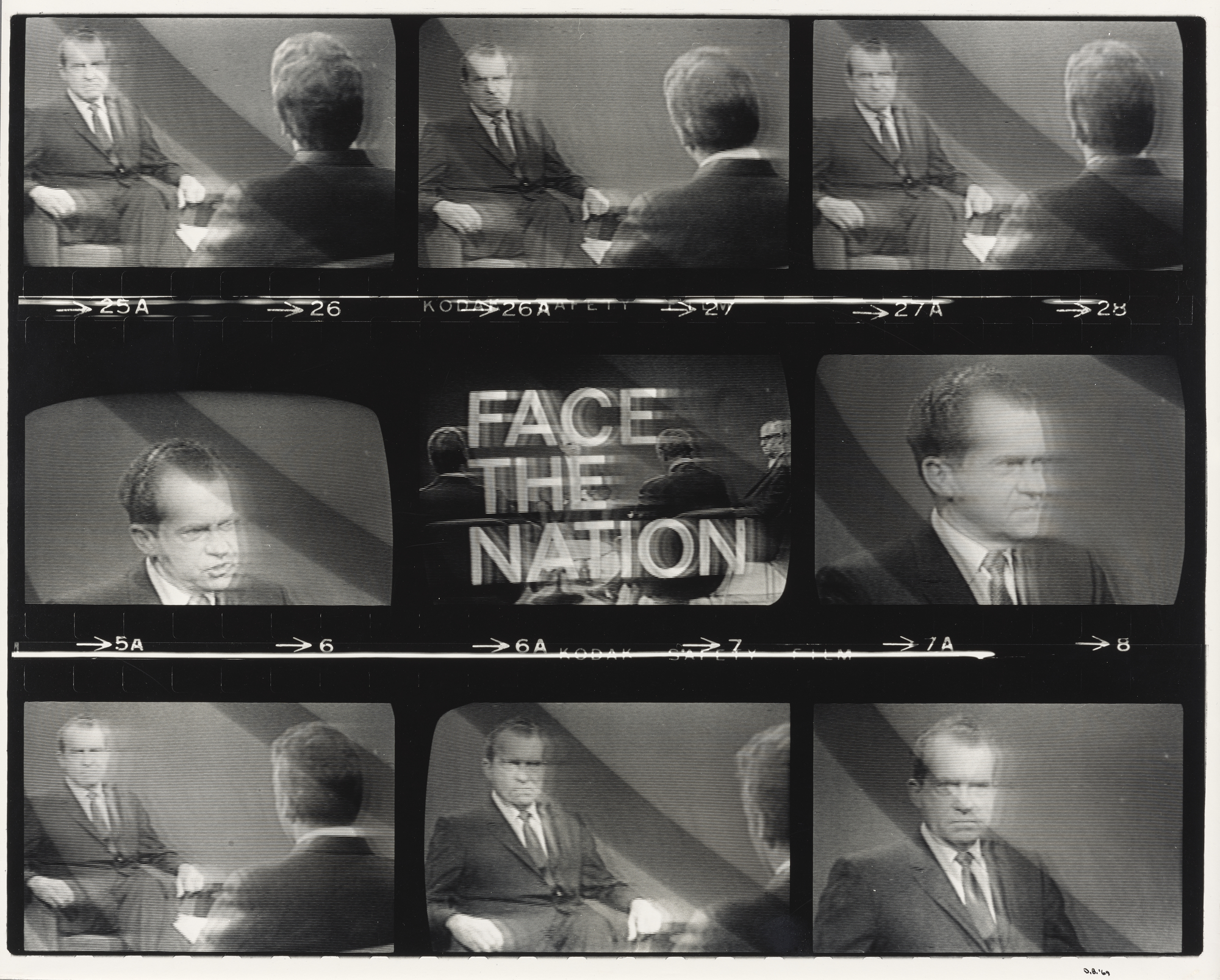 Untitled, from the series Television Political Mosaics, 1968-1969, 1968-1969