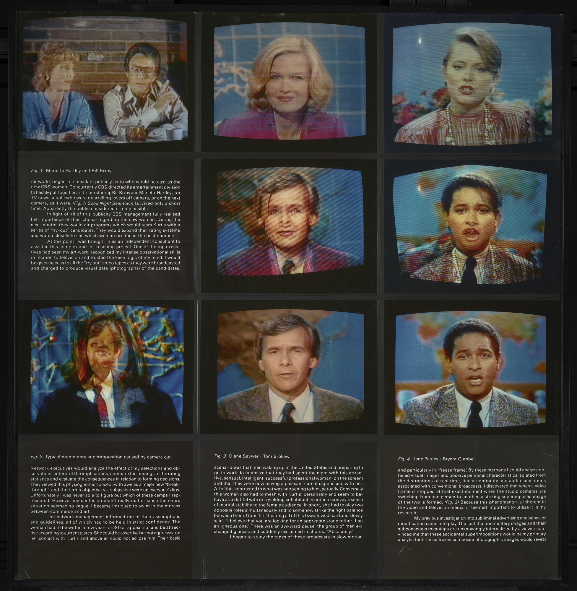 A Case Study in Finding an Appropriate TV Newswoman (A CBS Docudrama in Words and Pictures) (detail), 1984