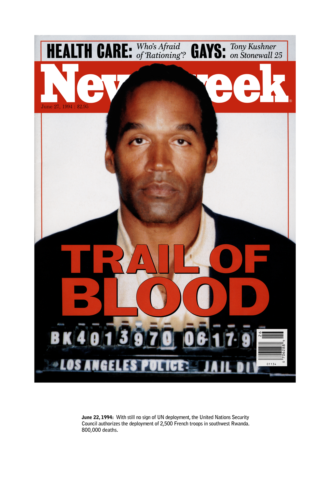 Untitled (Newsweek) (detail), 1995
