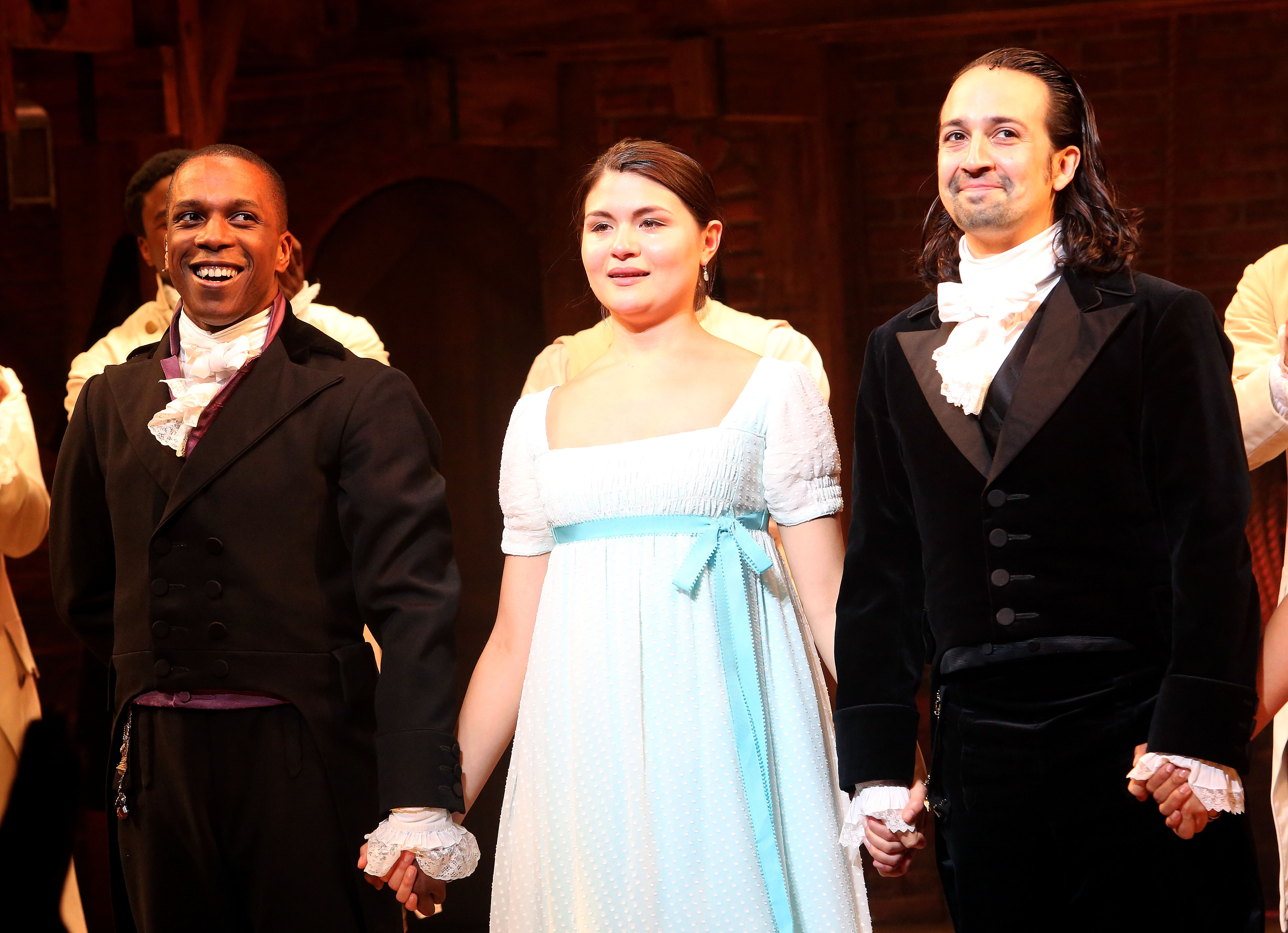 Hamilton  on Broadway at The Richard Rogers Theatre in New York City on July 9, 2016.