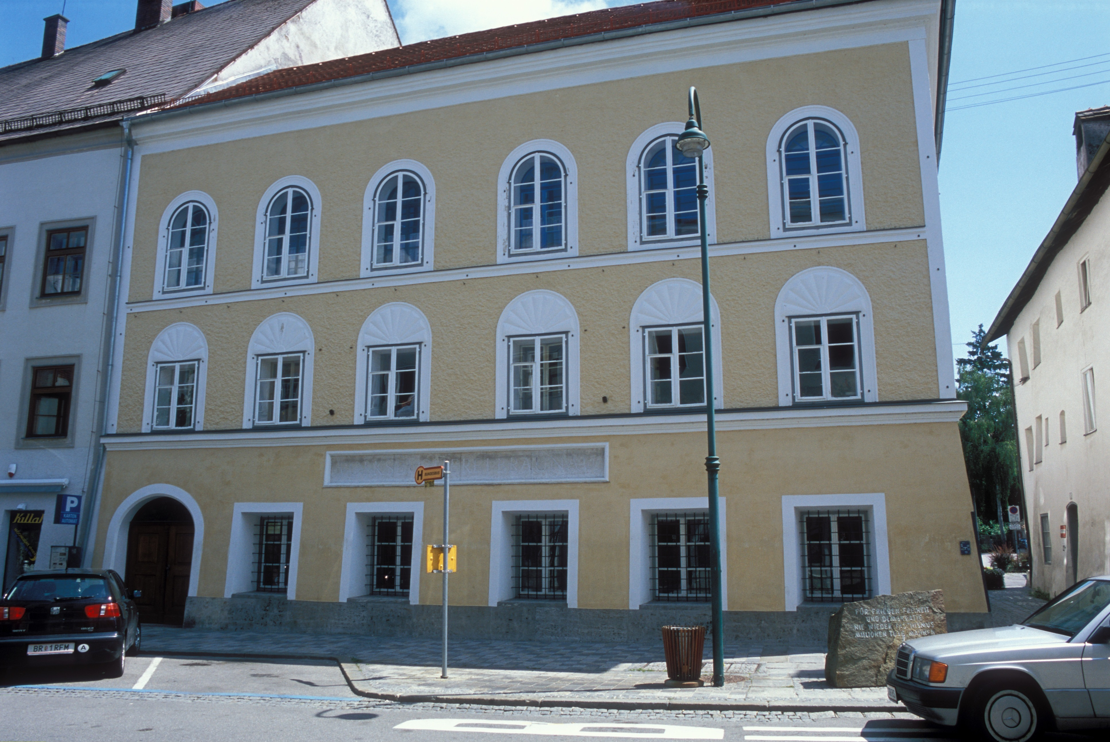 Hitler's place of birth in Braunau, Austria
