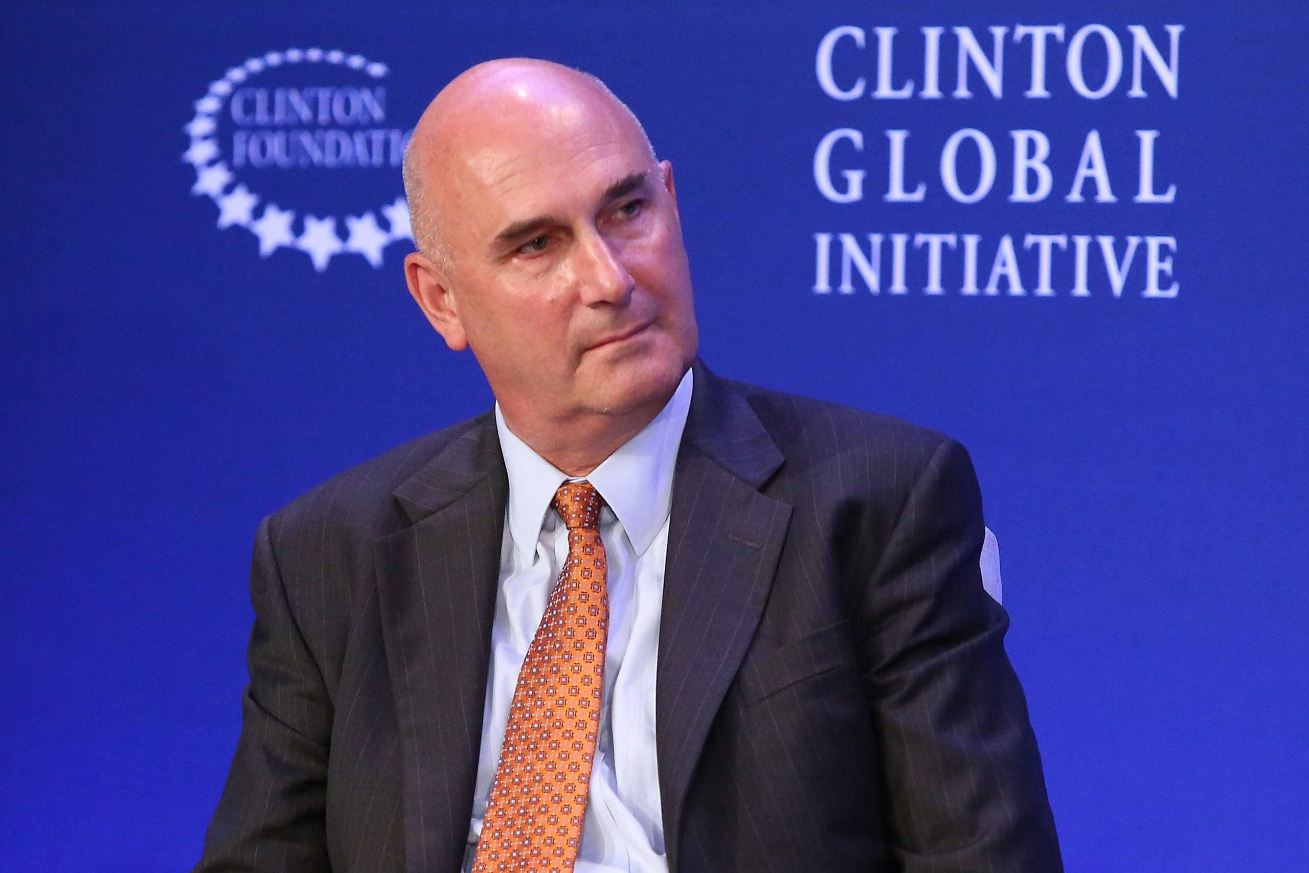 Monsanto CEO Hugh Grant speaks during the 2015 Clinton Global Initiative Annual Meeting at Sheraton Times Square on Sept. 28, 2015 in New York City.