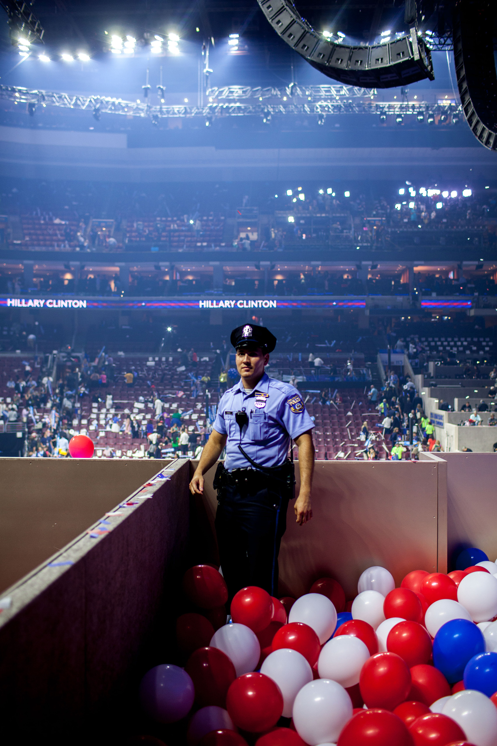 Security backstage on the fourth day of the Democratic National Convention at the Wells Fargo Center in Philadelphia, Pennsylvania July 28, 2016.From  The 82 Most Unforgettable Photos From the Election