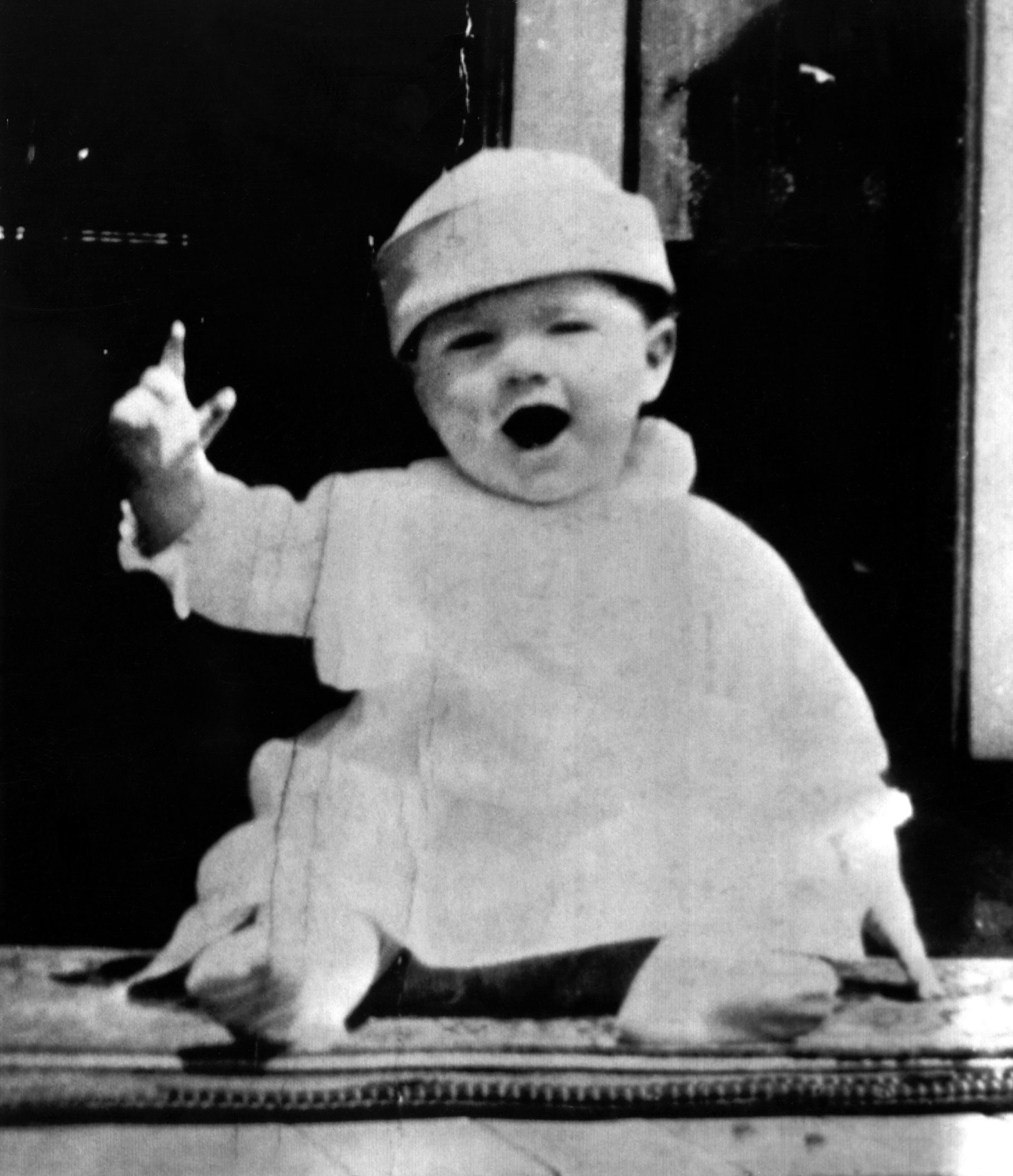 "<b>No Ordinary Baby</b> Glenn at nine months old in Cambridge, Ohio, in 1922. He would soon meet the neighborhood girl he would eventually marry. ""Annie and I met in the playpen,"" he likes to say."