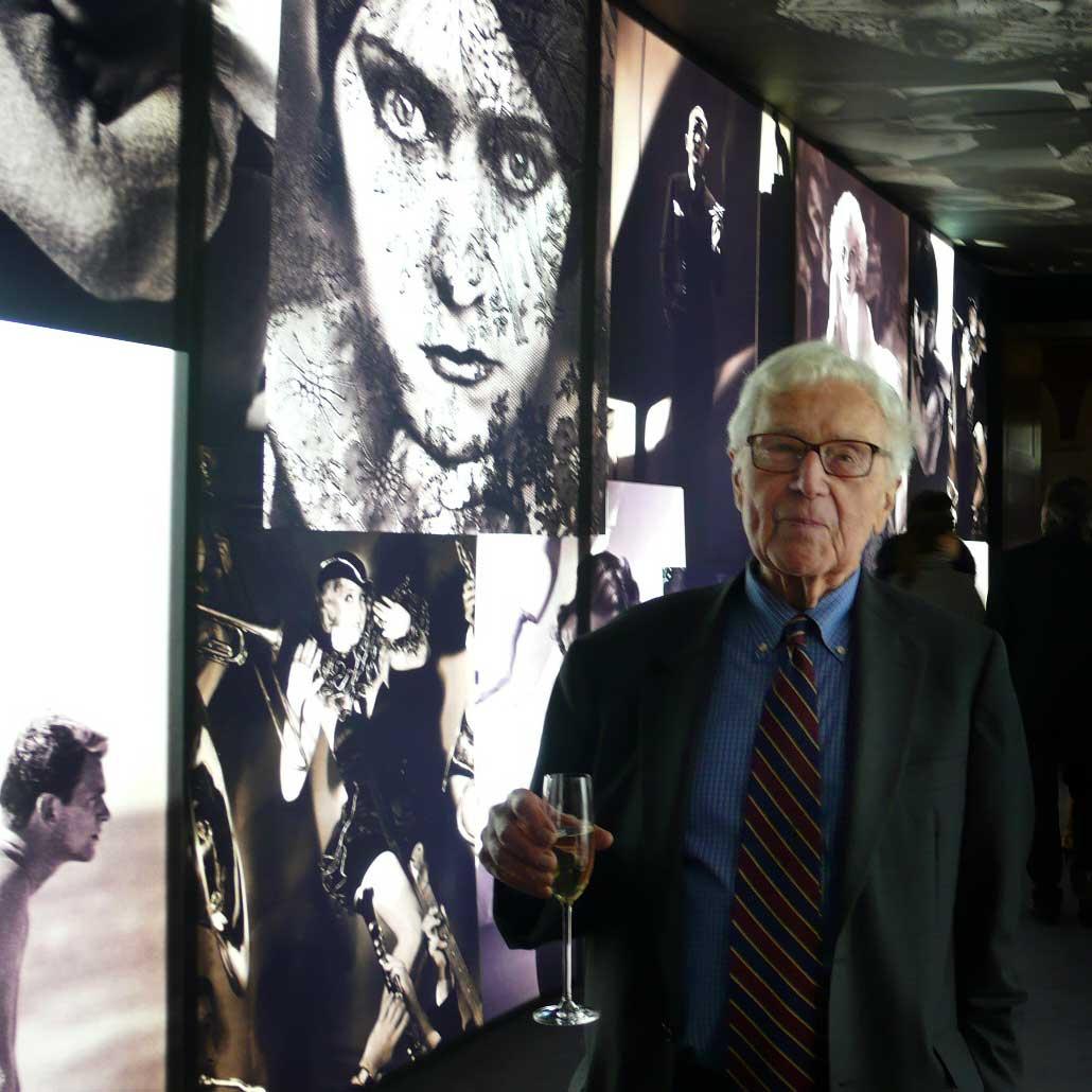 John G. Morris at the Vanity Fair exhibit, National Portrait Gallery, London February 11, 2008.